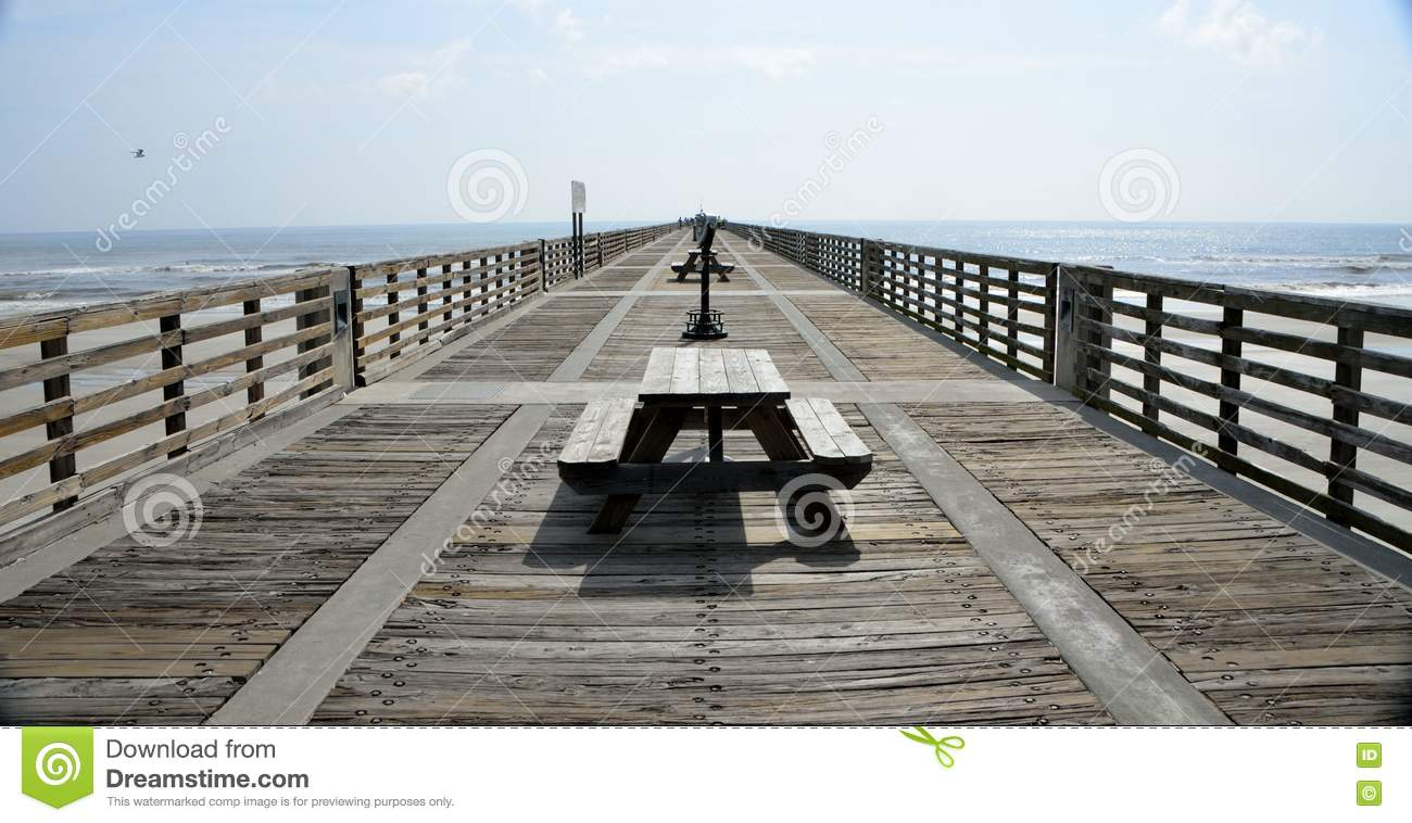 Fishing pier jacksonville beach florida stock image for Fishing piers in jacksonville fl
