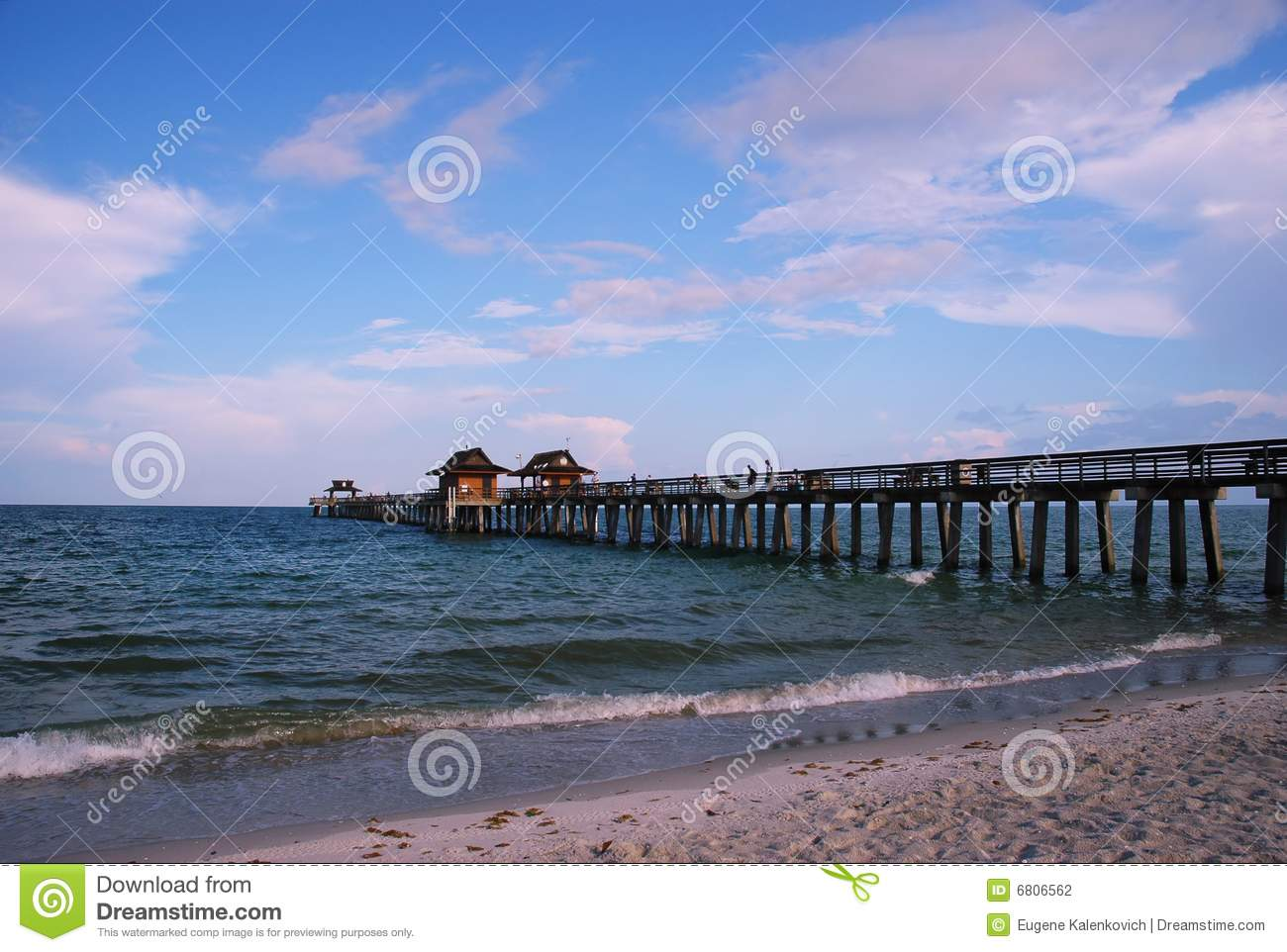 Fishing pier at naples beach florida stock photo image for Fish naples fl