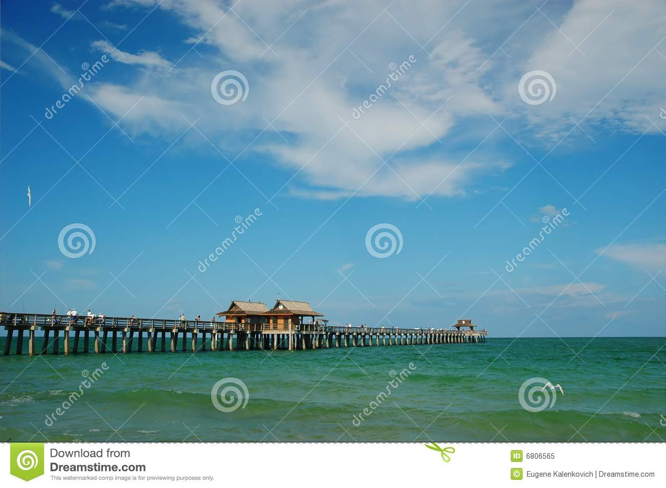 Fishing pier at naples beach florida royalty free stock for Fish naples fl