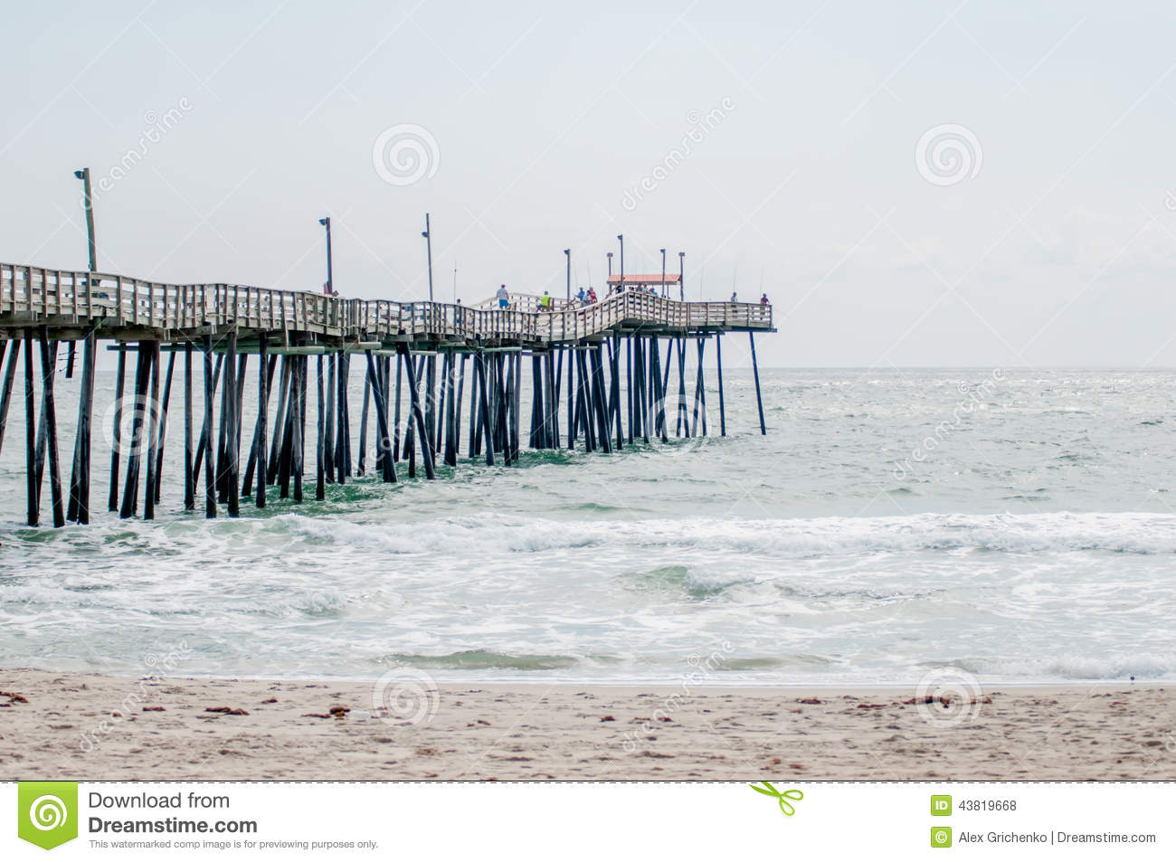 At fishing pier on the outer banks north carolina stock for North myrtle beach fishing pier
