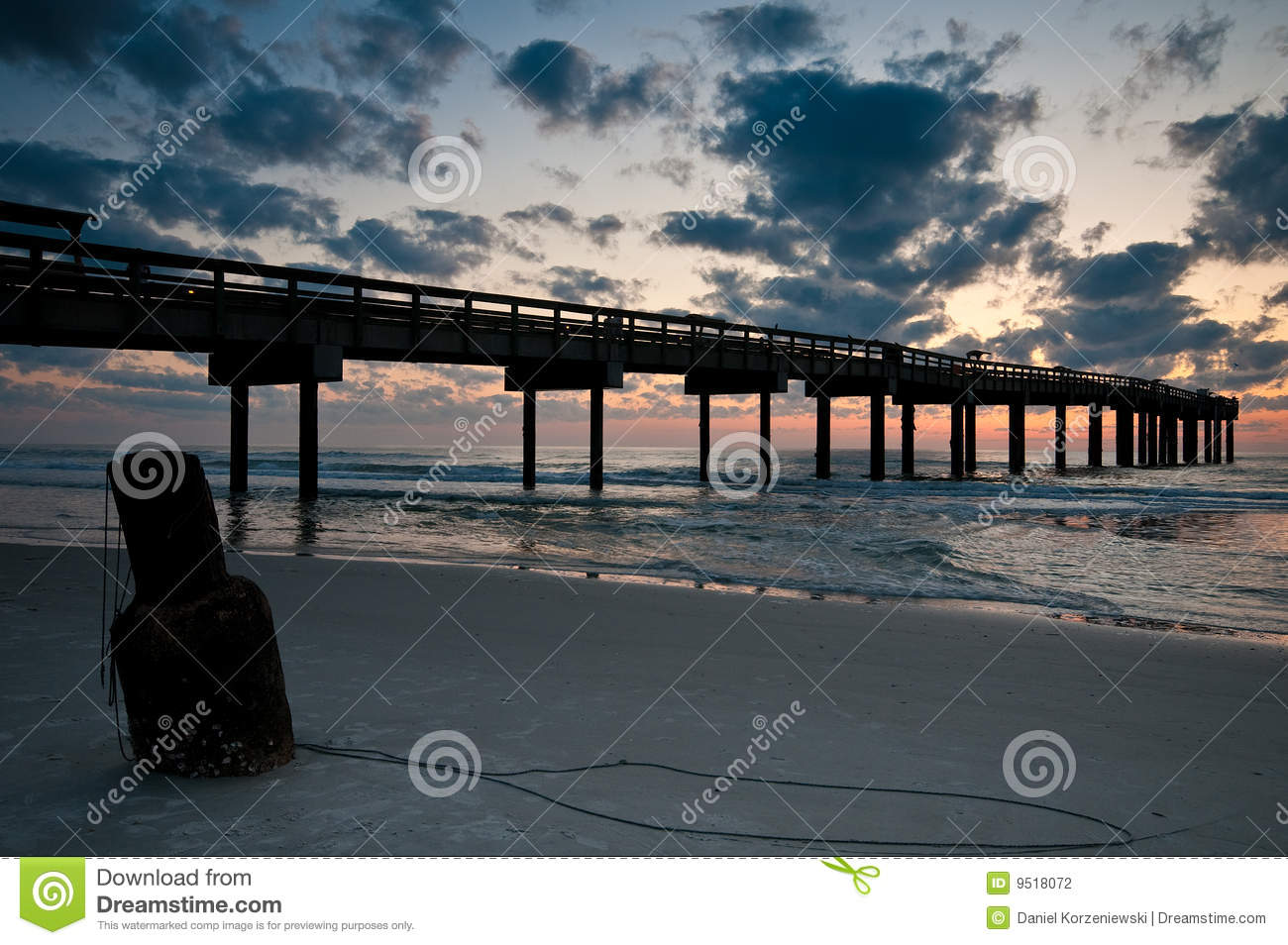 Fishing pier at st augustine stock photography image for St augustine fishing pier