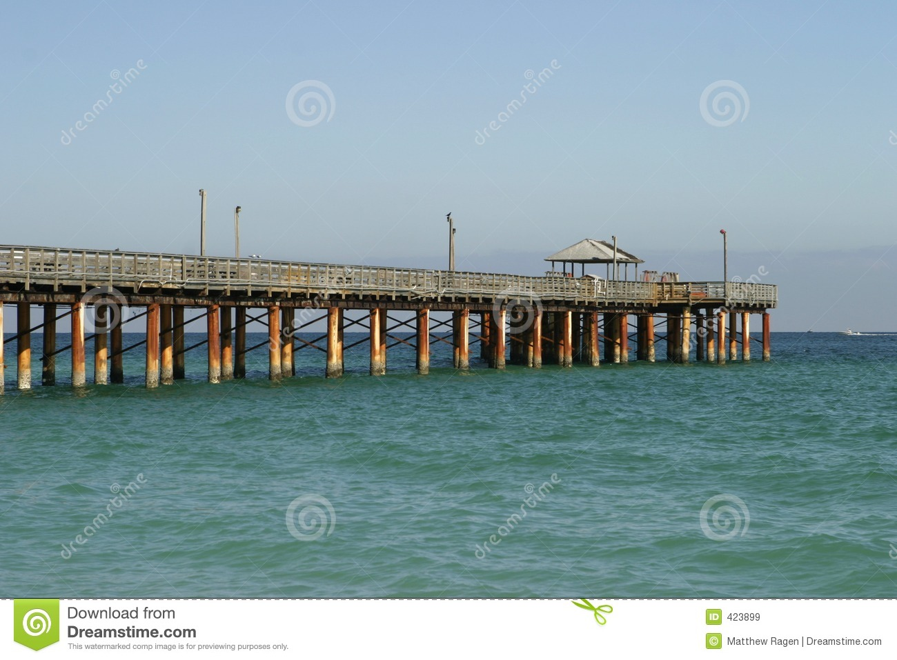 Fishing pier on sunny isles beach stock image image 423899 for Fishing piers in florida