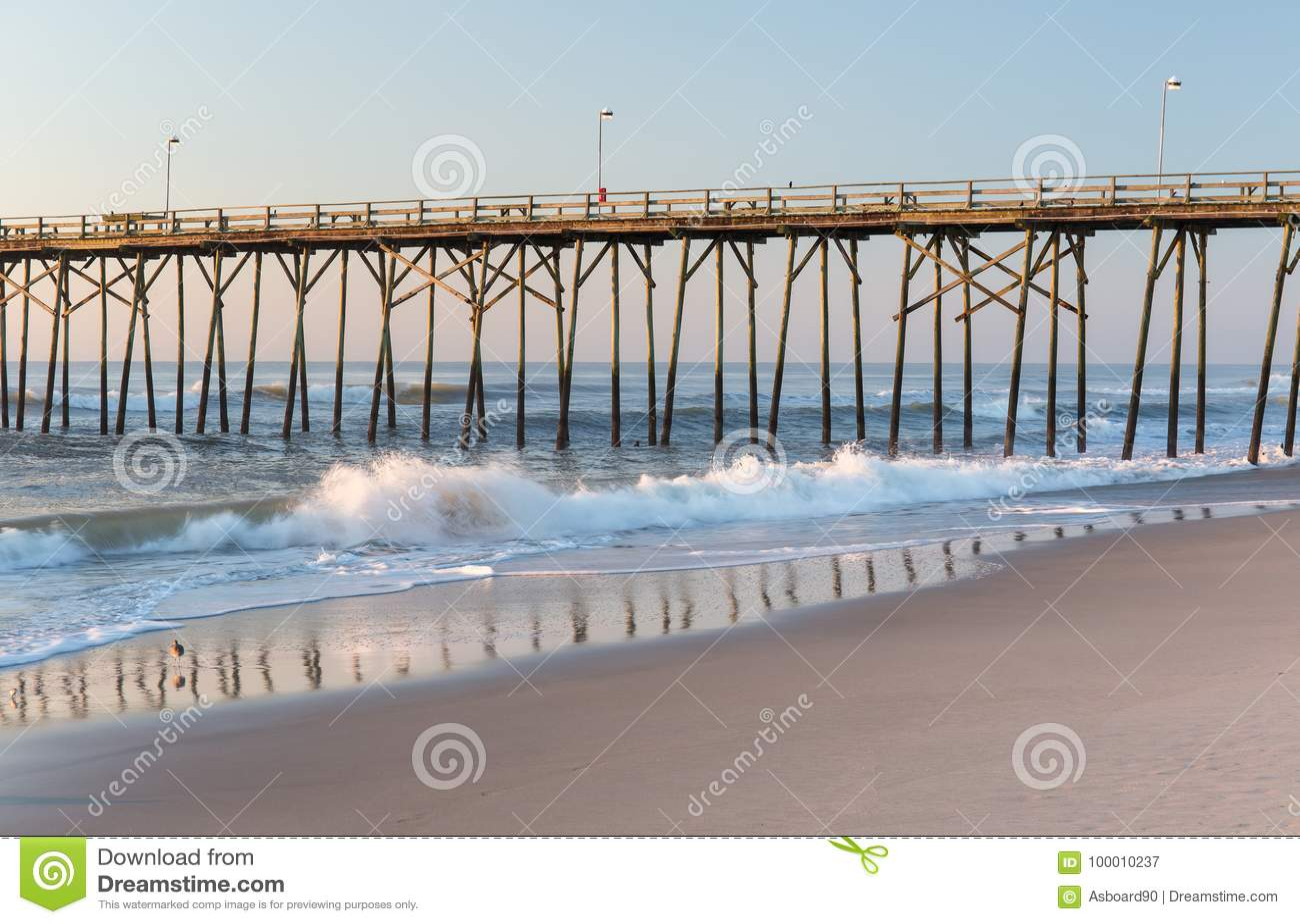 Fishing pier at Kure Beach, North Carolina