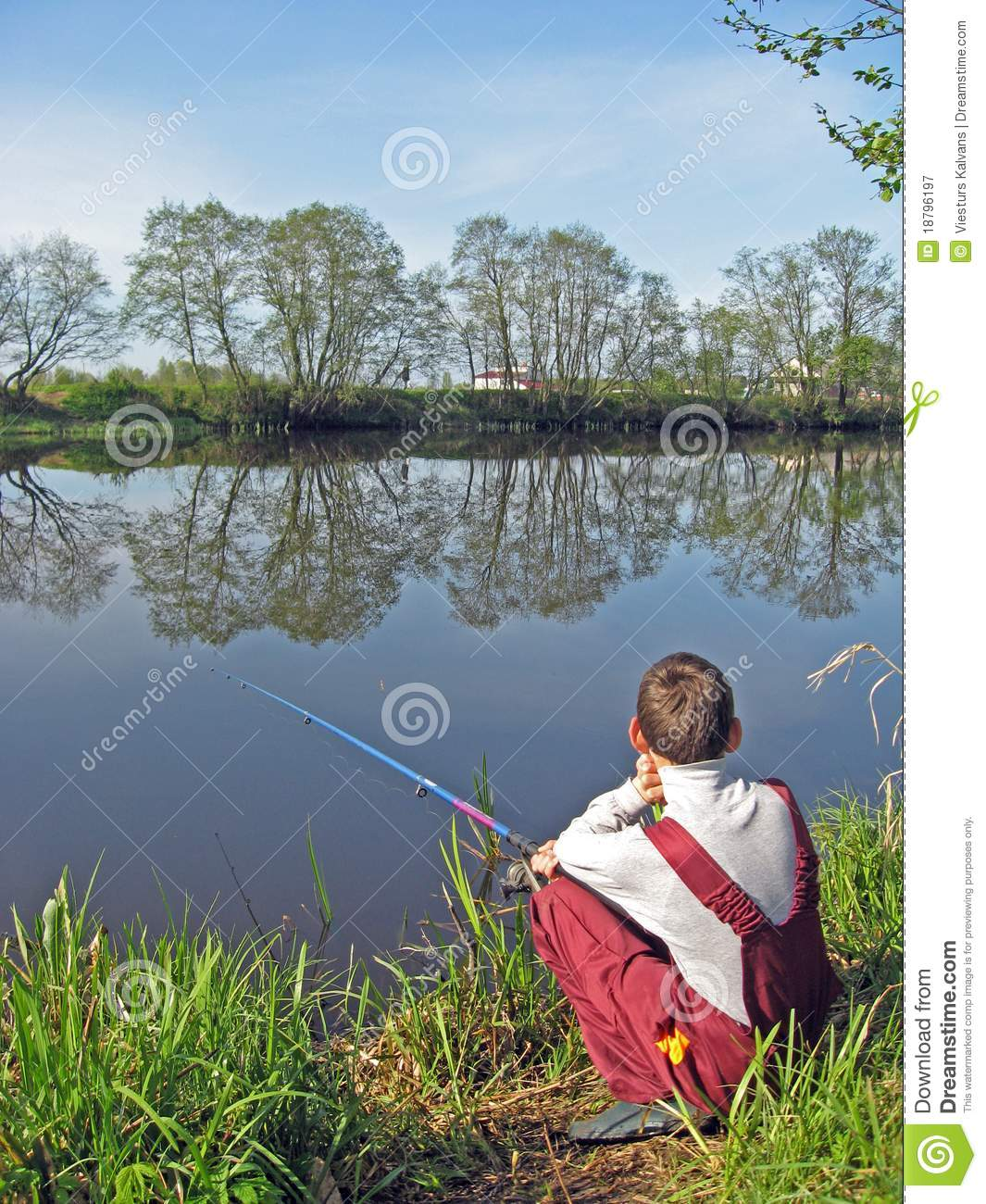 Fishing on pond 2 stock image image of fishing tools for Stocked fishing ponds near me