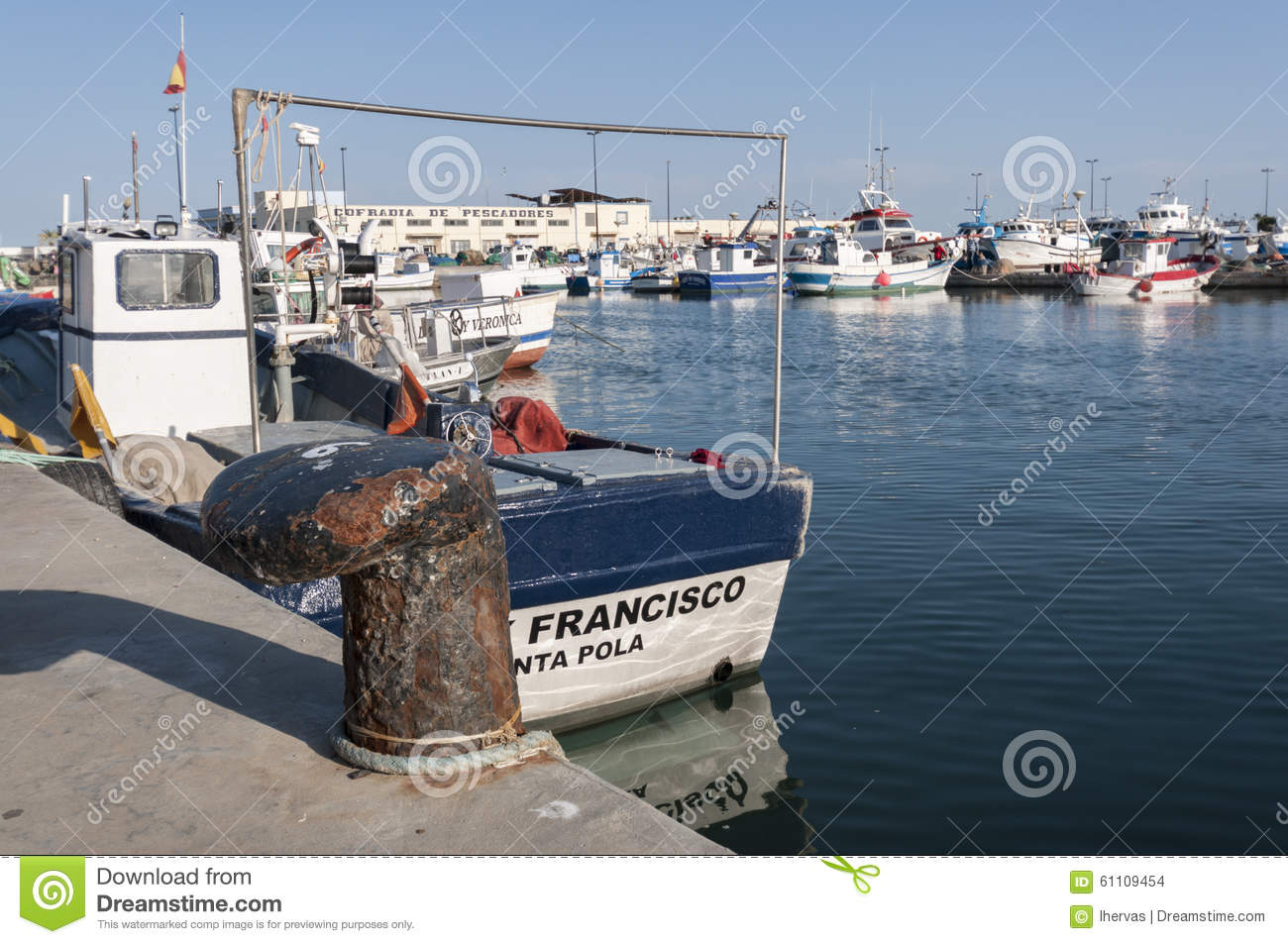 Fishing port of santa pola editorial stock image image for Port a fishing