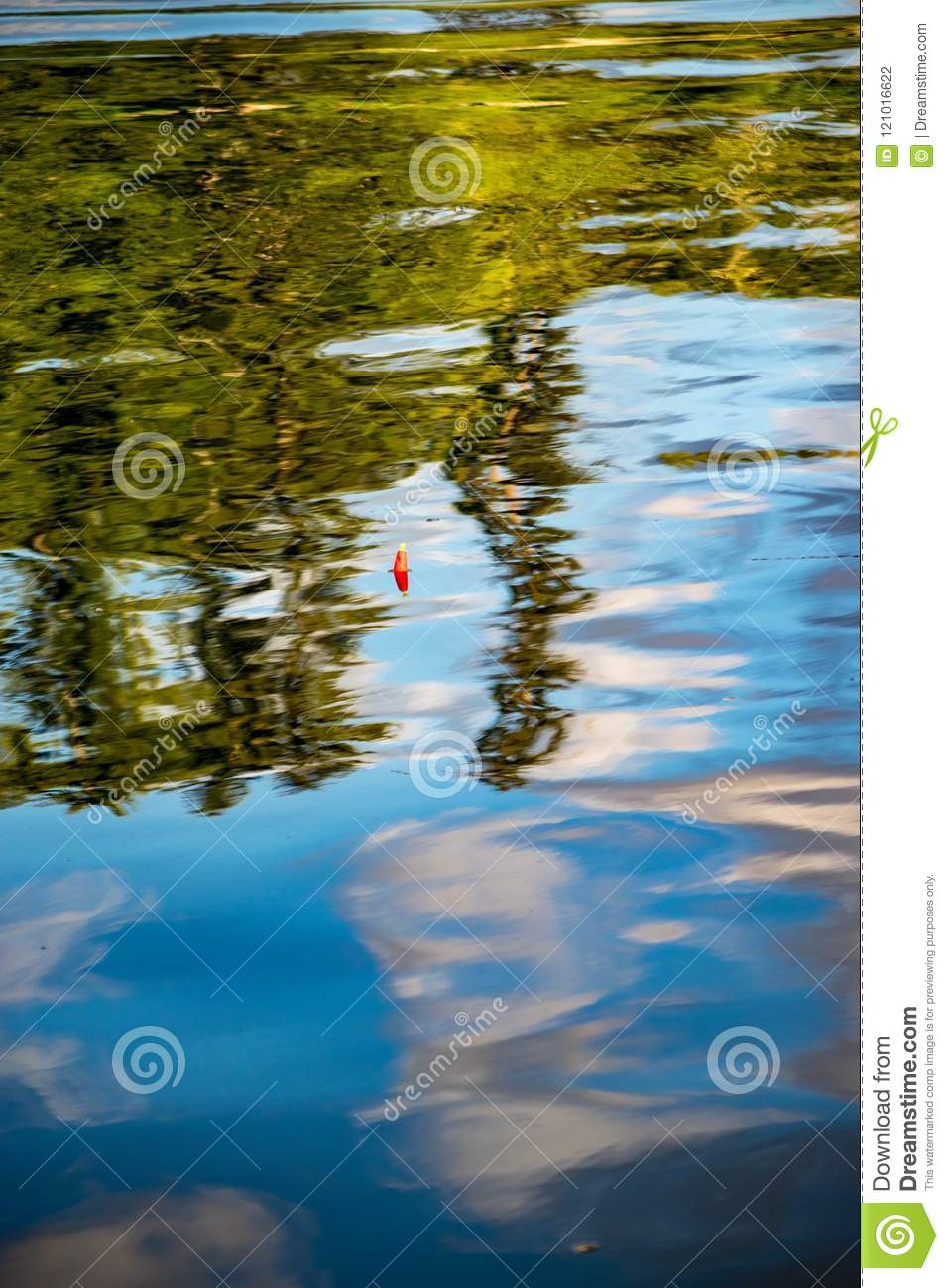 Fishing in a reflection