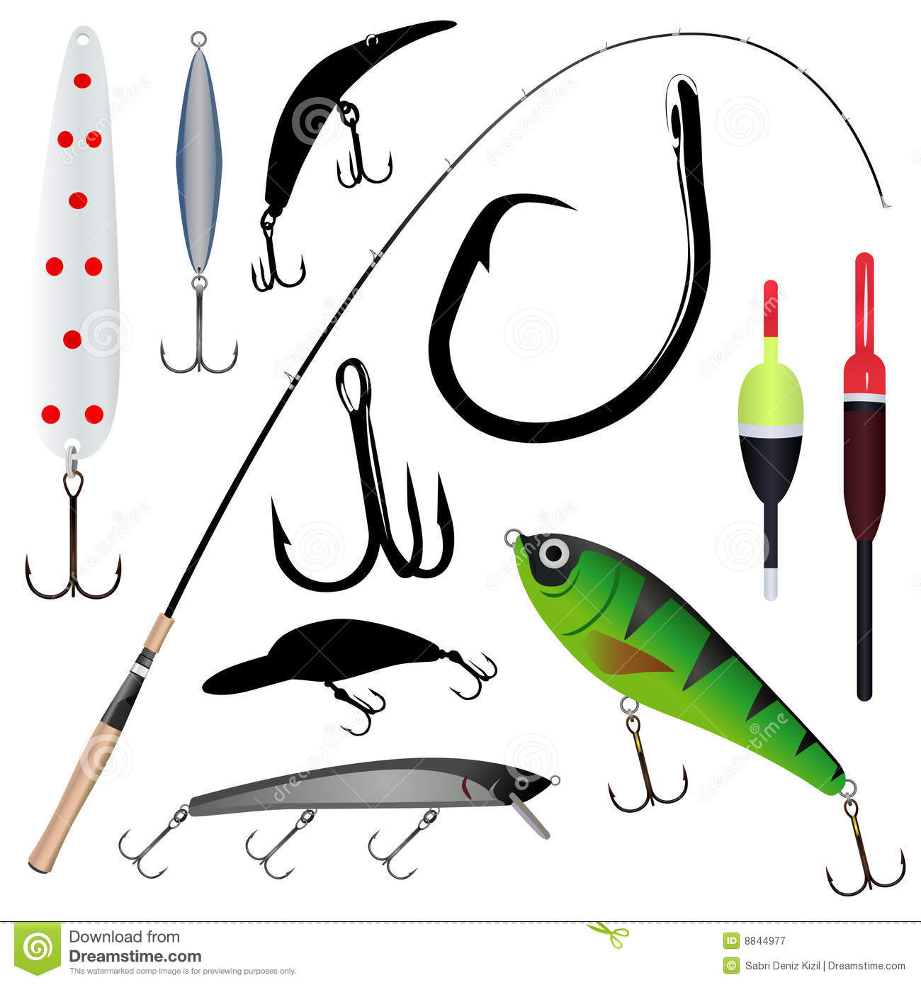 Fishing rod hook royalty free stock photography image for How to get free fishing gear