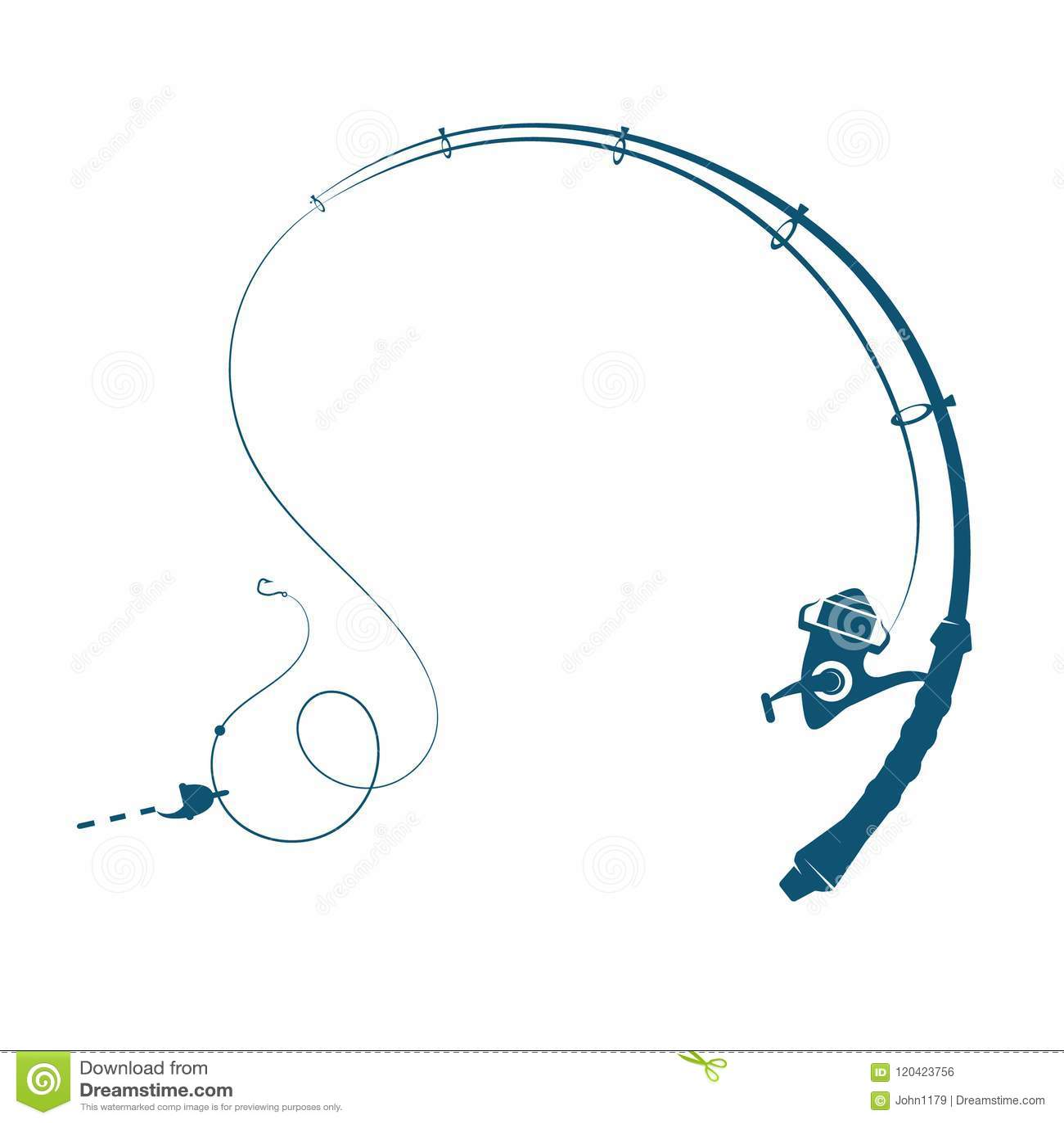 Fishing Rod Silhouette Stock Vector Illustration Of Handle 120423756
