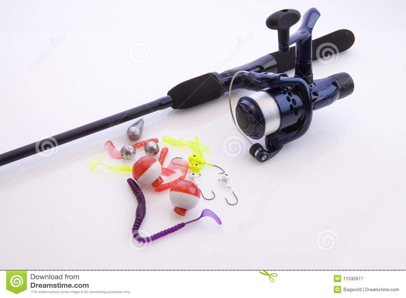 Fishing rod on white royalty free stock photography for White fishing rod