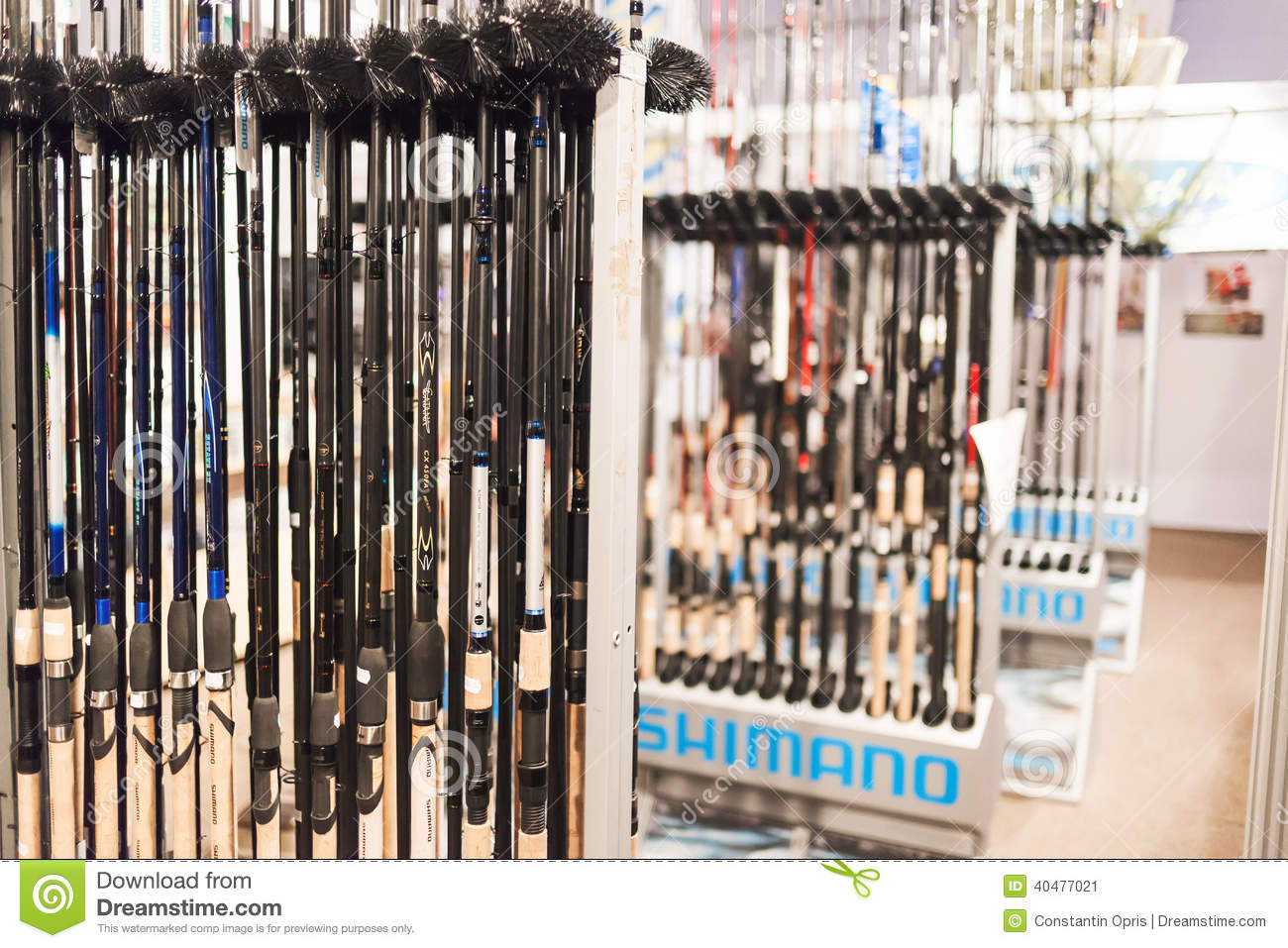 fishing rods in a store. editorial photo - image: 29548531, Fishing Reels