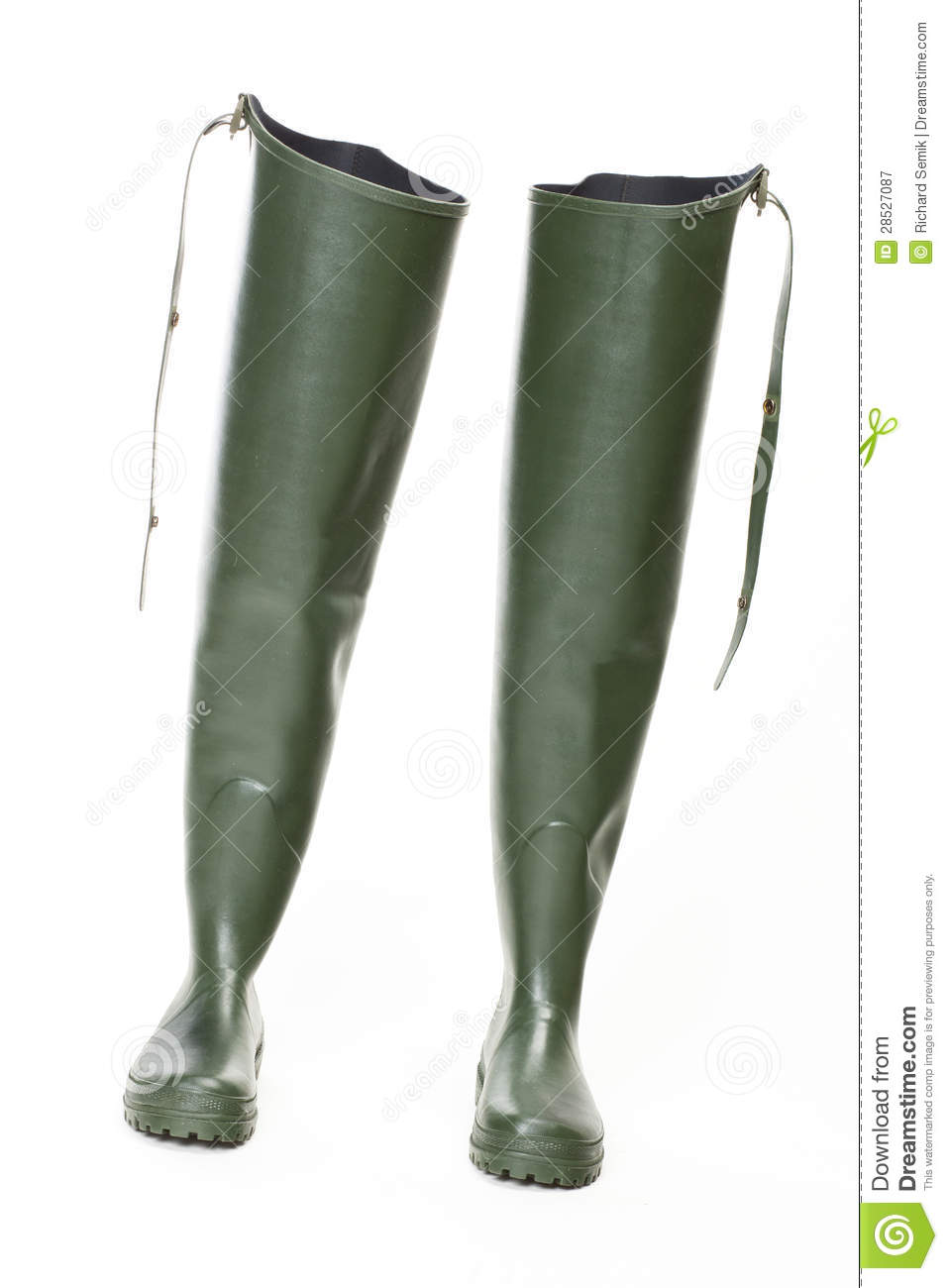 Fishing rubber boots royalty free stock photography for White fishing boots