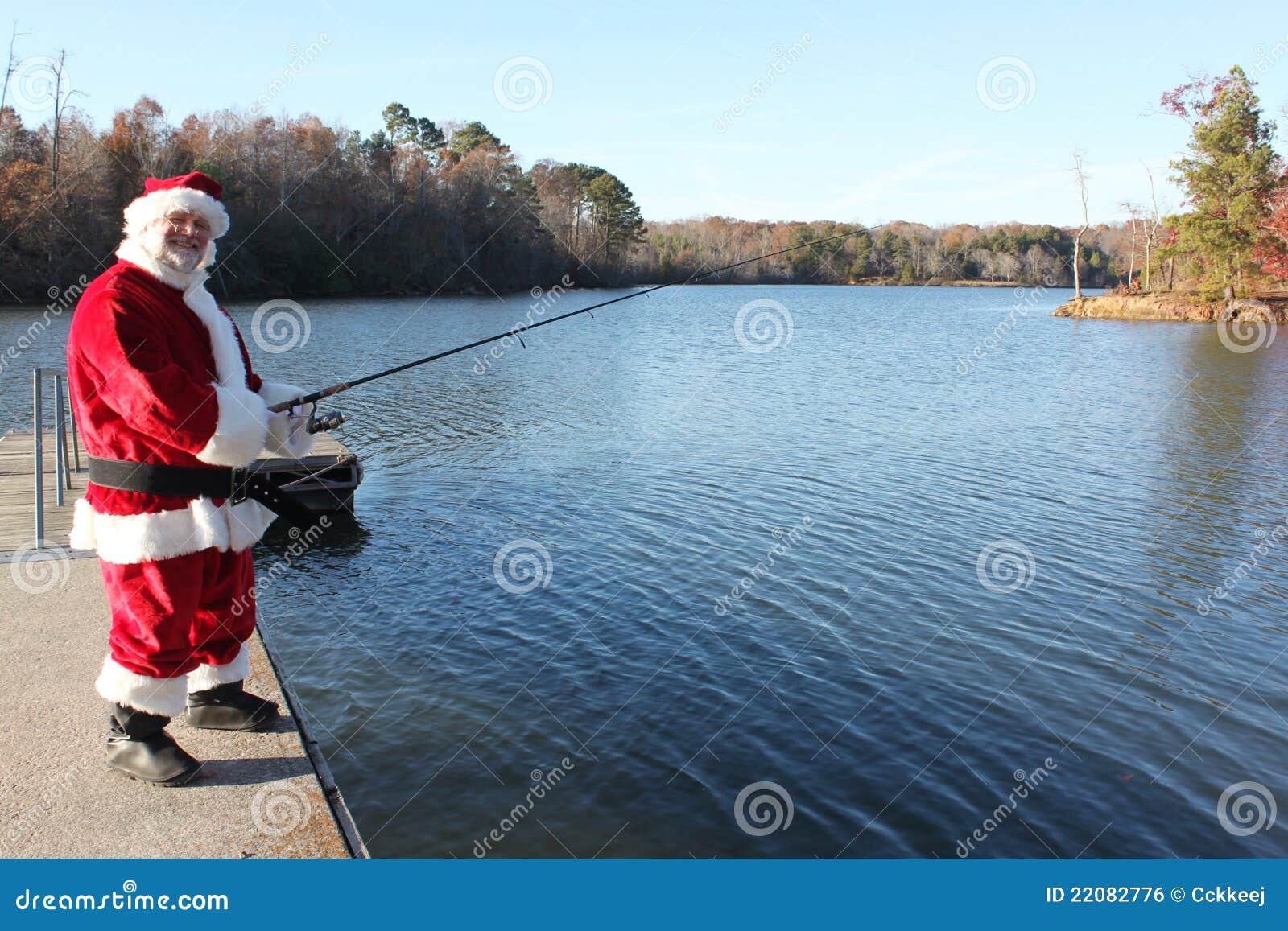 fishing santa royalty free stock image image 22082776