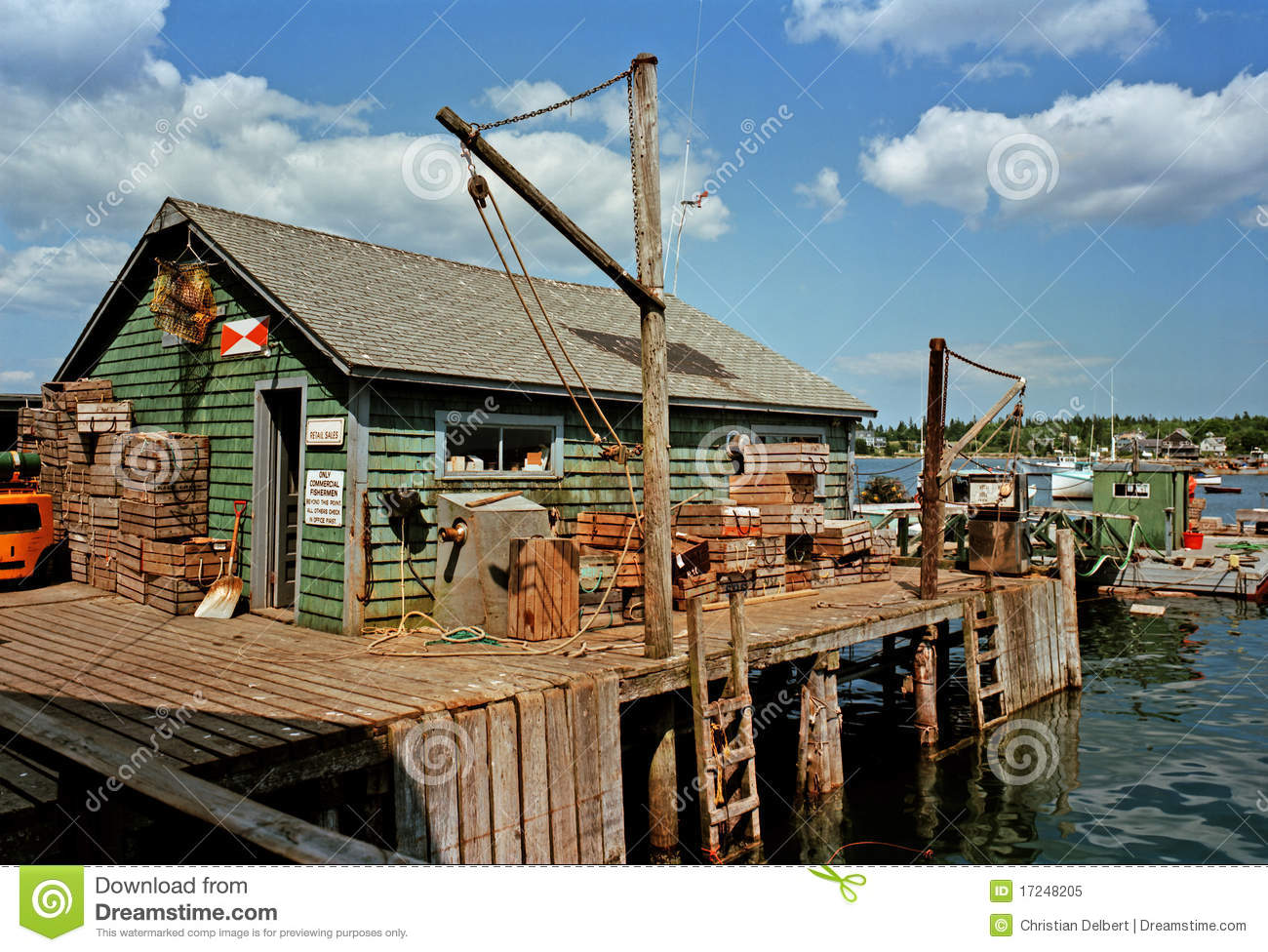 Fishing shack royalty free stock photo image 17248205 for Who sells fishing license near me