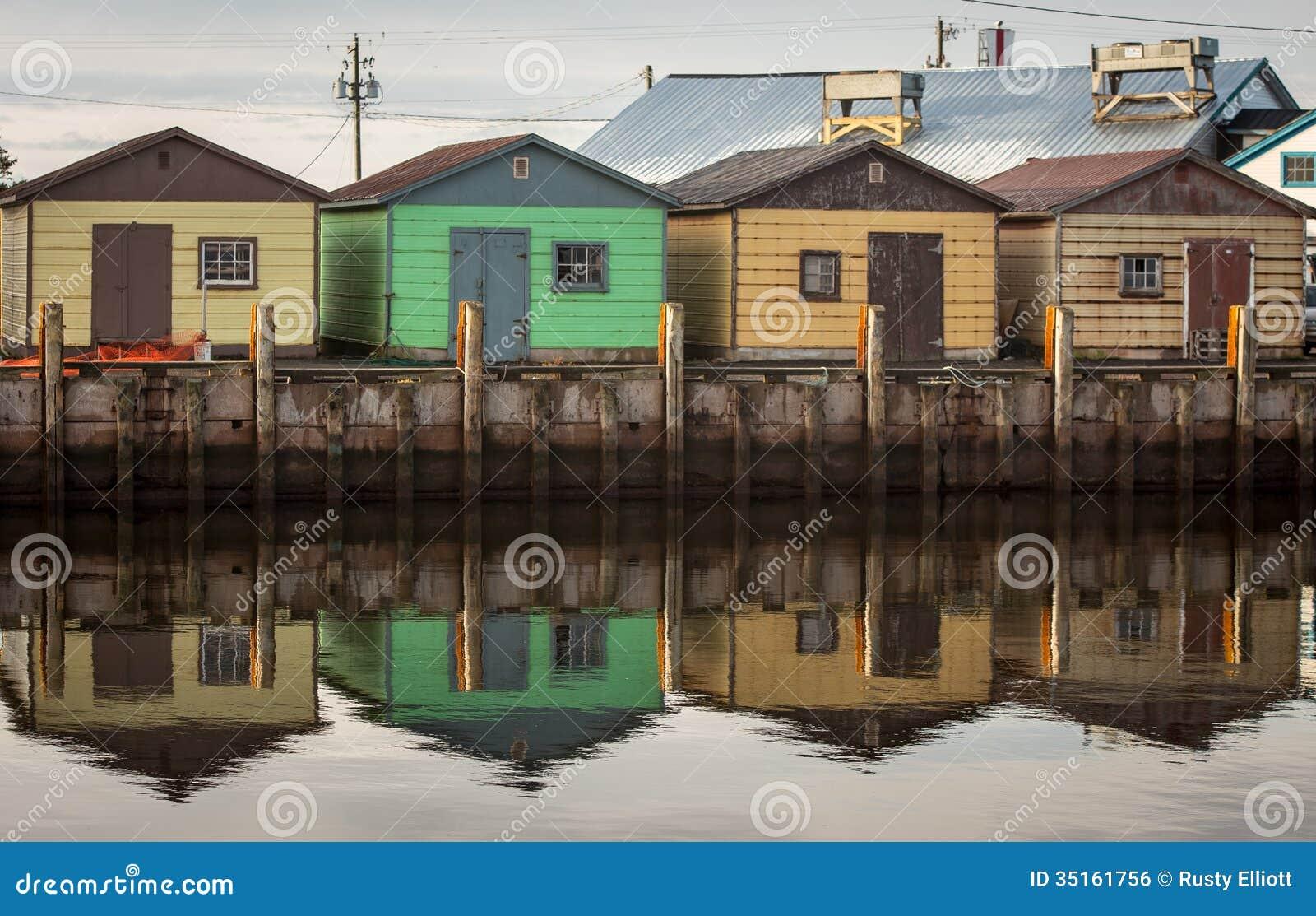 Fishing shacks stock photo image of prince canada for Too cool fishing
