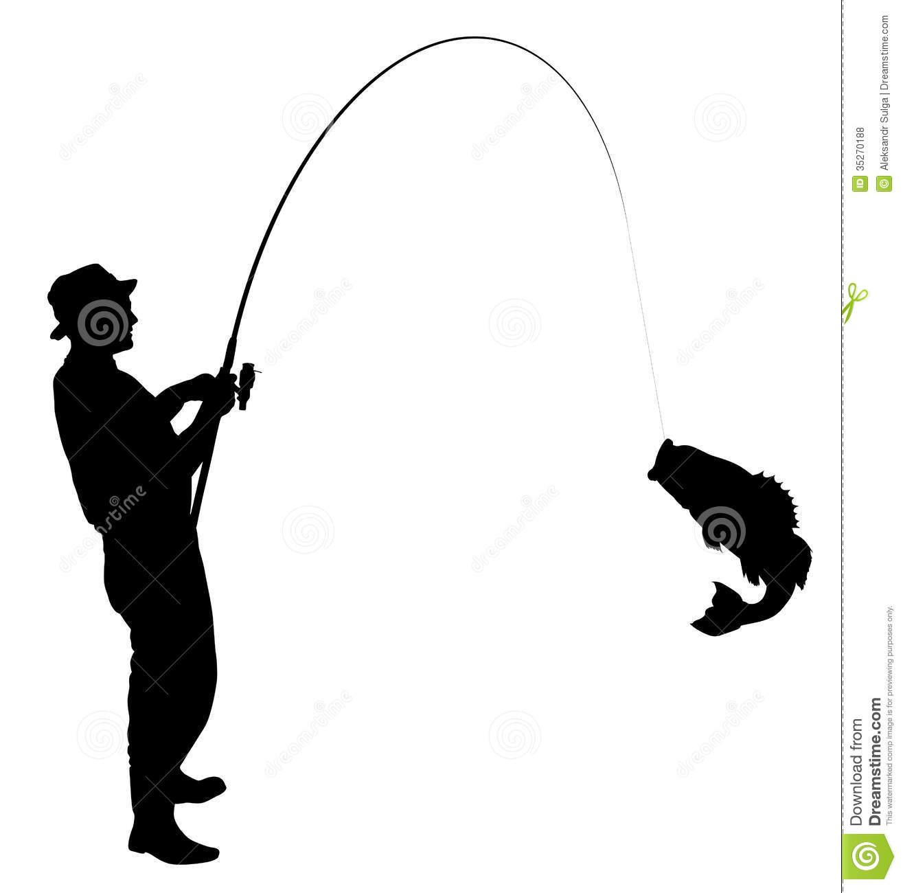 Fishing Silhouette Royalty Free Stock Photos - Image: 35270188