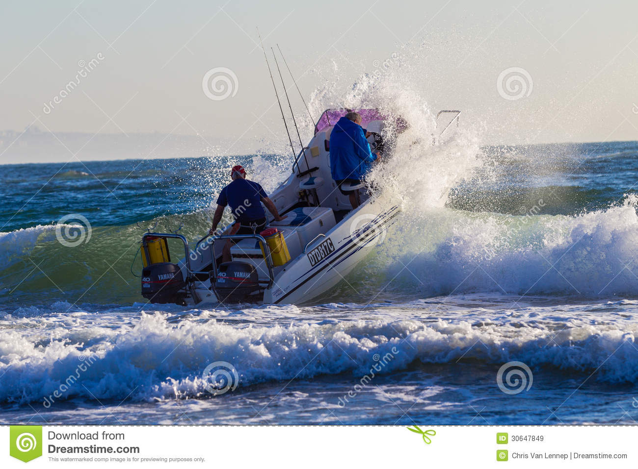 Ski-Boat Crew Launch Wave editorial stock image. Image of ski - 30647849