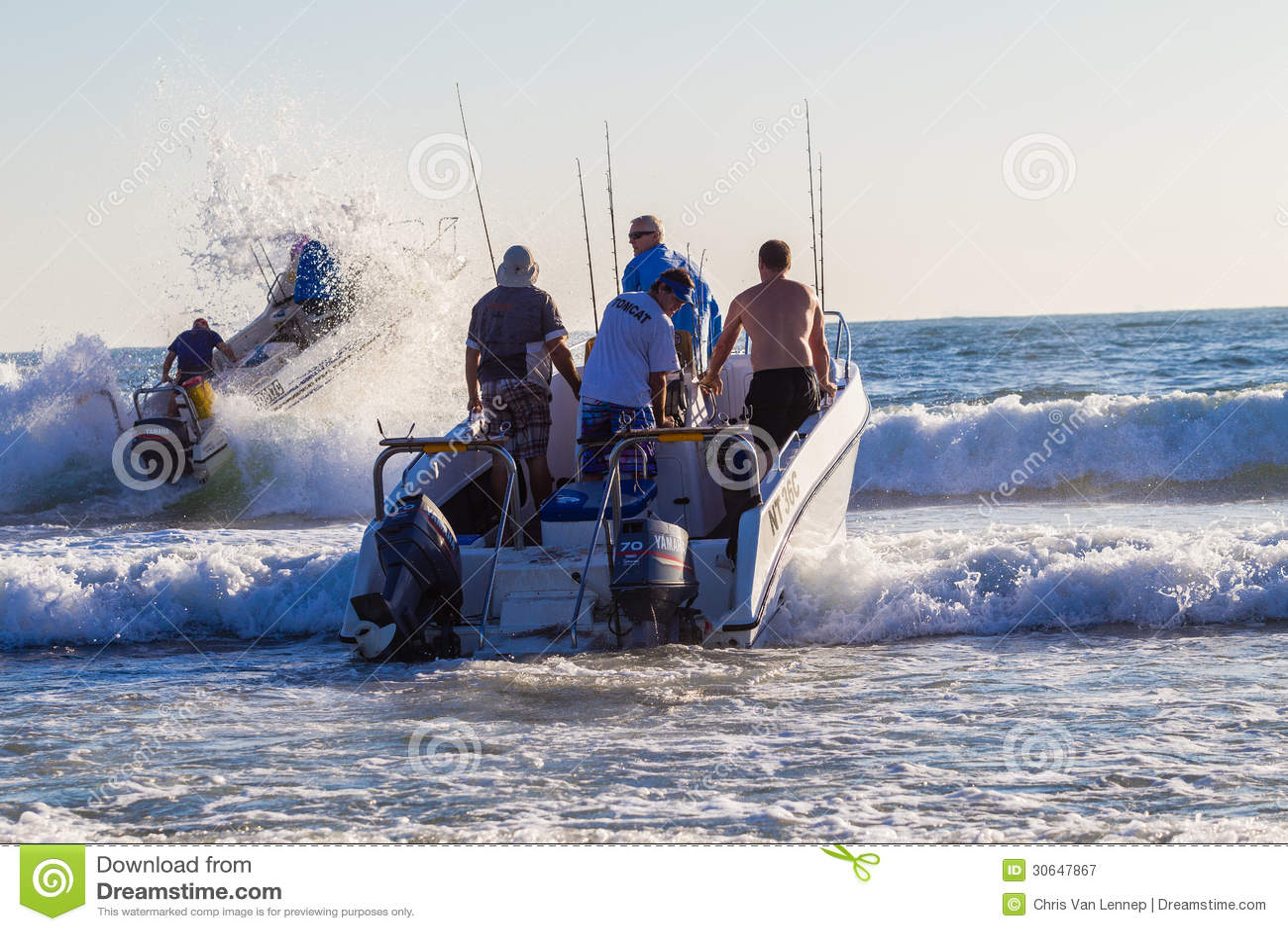 Fishing ski boats waves editorial photography image of for Fish and ski
