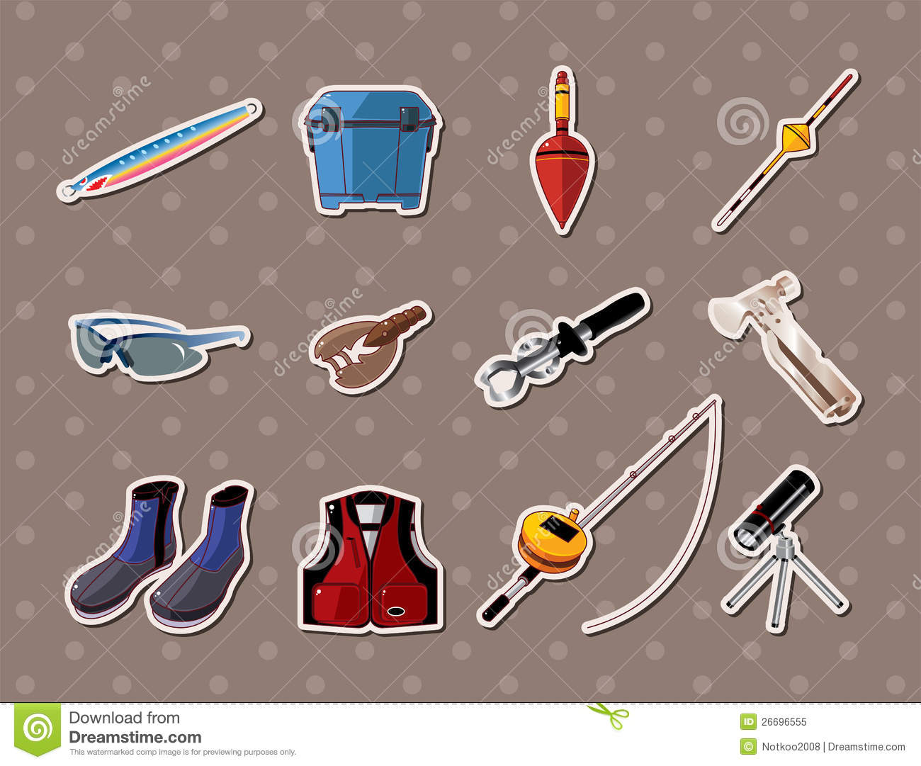 Fishing stickers royalty free stock photo image 26696555 for Free fishing stickers