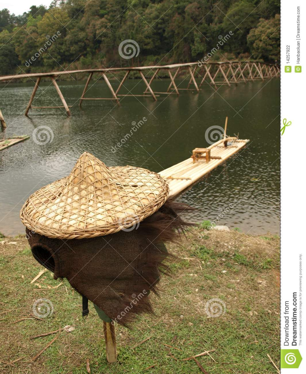 Fishing and straw hat stock photography image 14257922 for Fishing straw hat