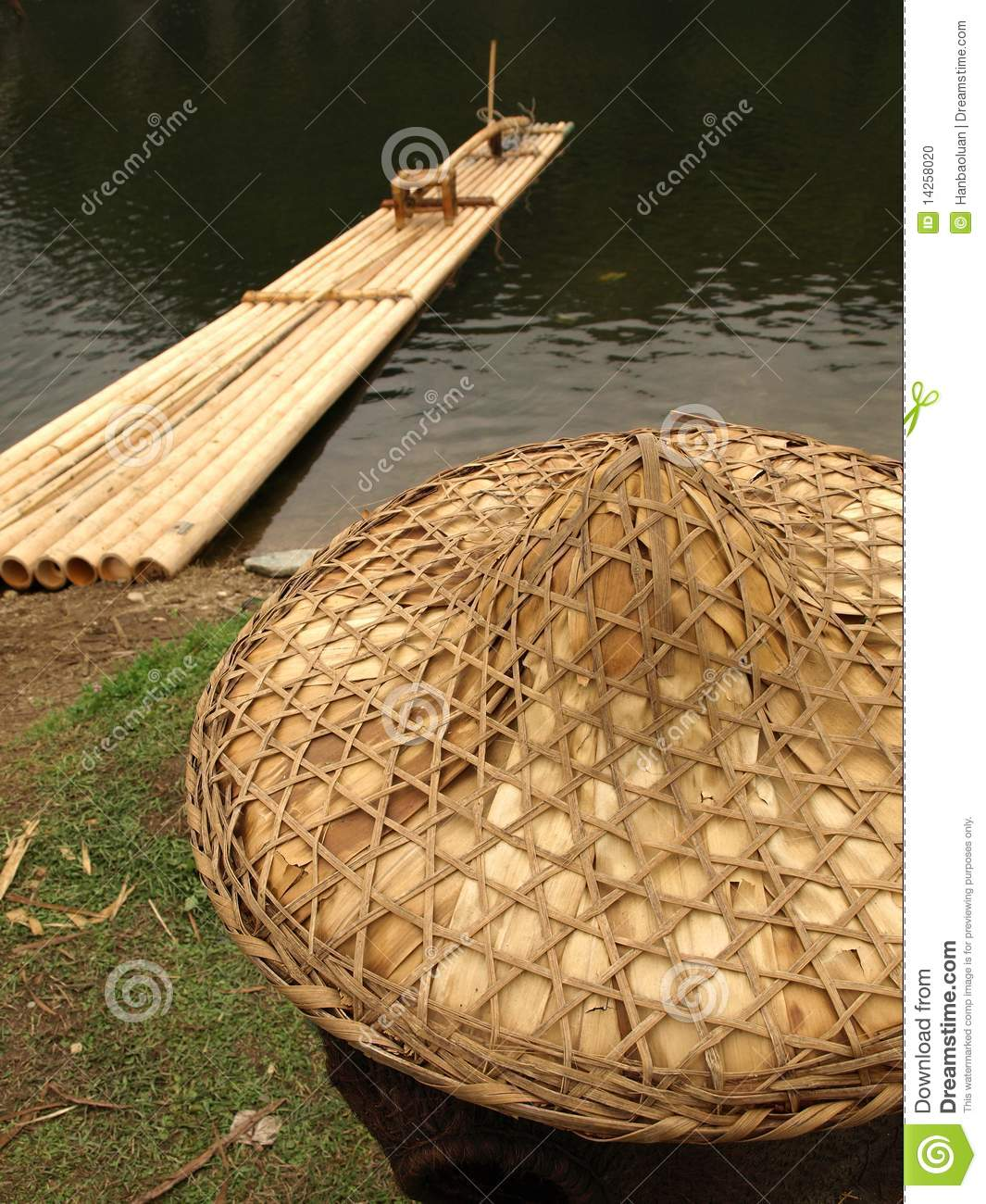 Fishing and straw hat stock photo image 14258020 for Fishing straw hat
