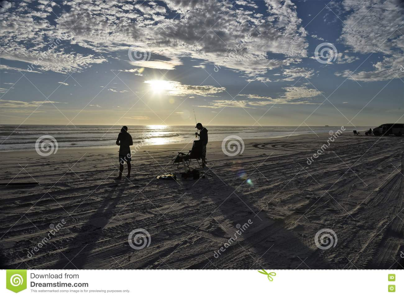 Download Fishing At Sunset Low Light Long Shadows Stock Image - Image of clouds, fishing: 71437429