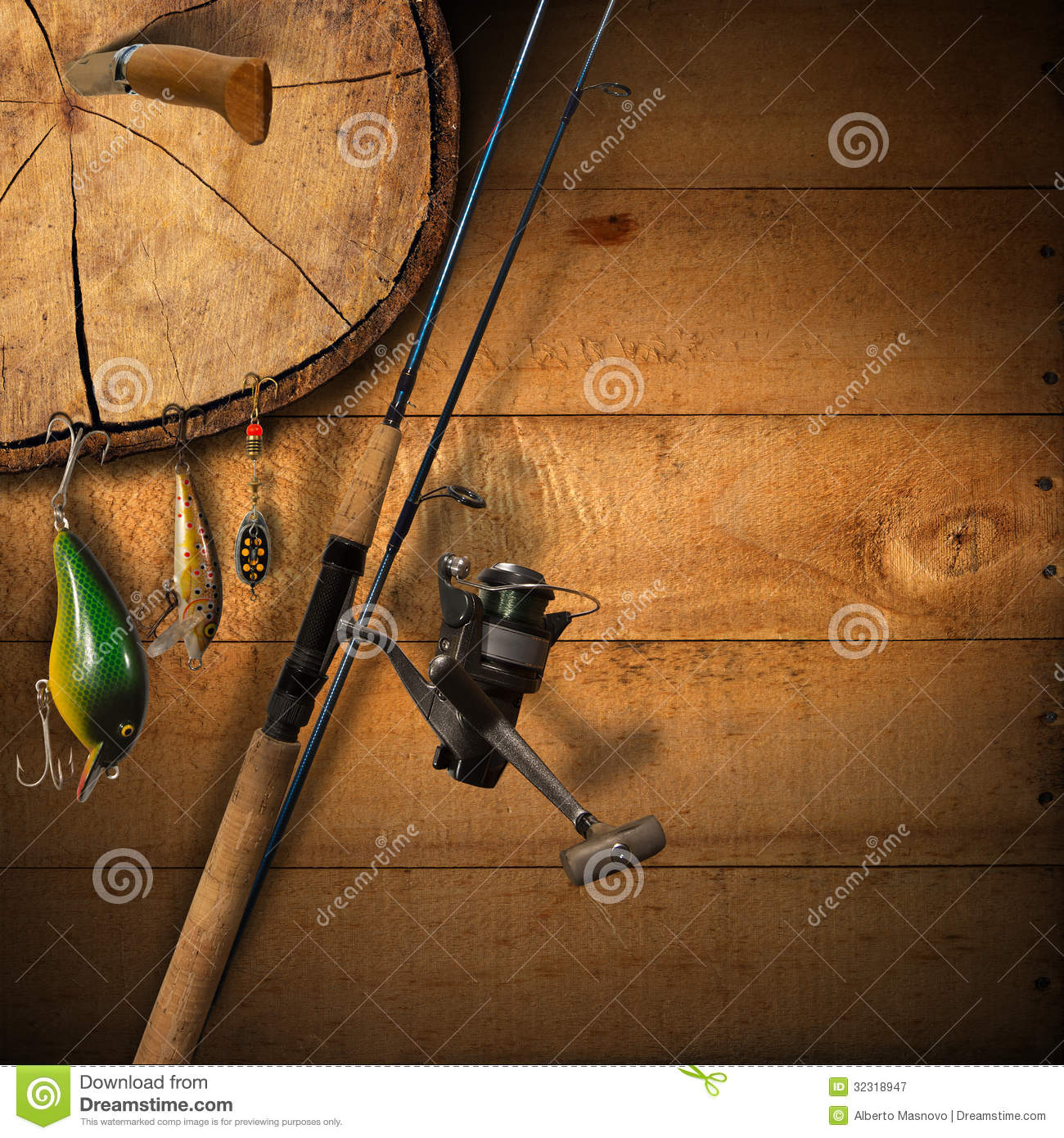 Fishing tackle background stock illustration image of for How to get free fishing gear