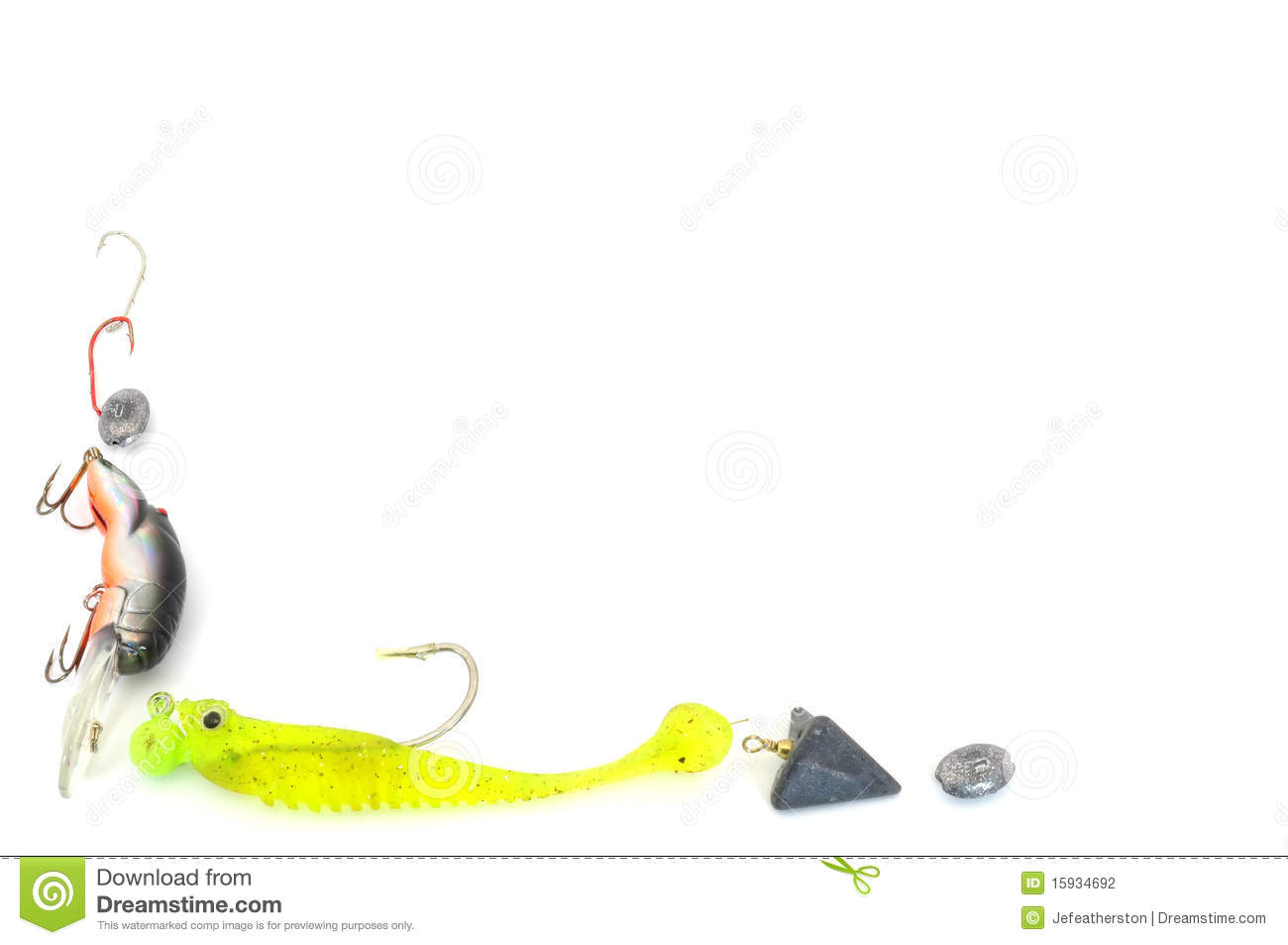 Fishing tackle border stock photo image of angling for Fishing times free