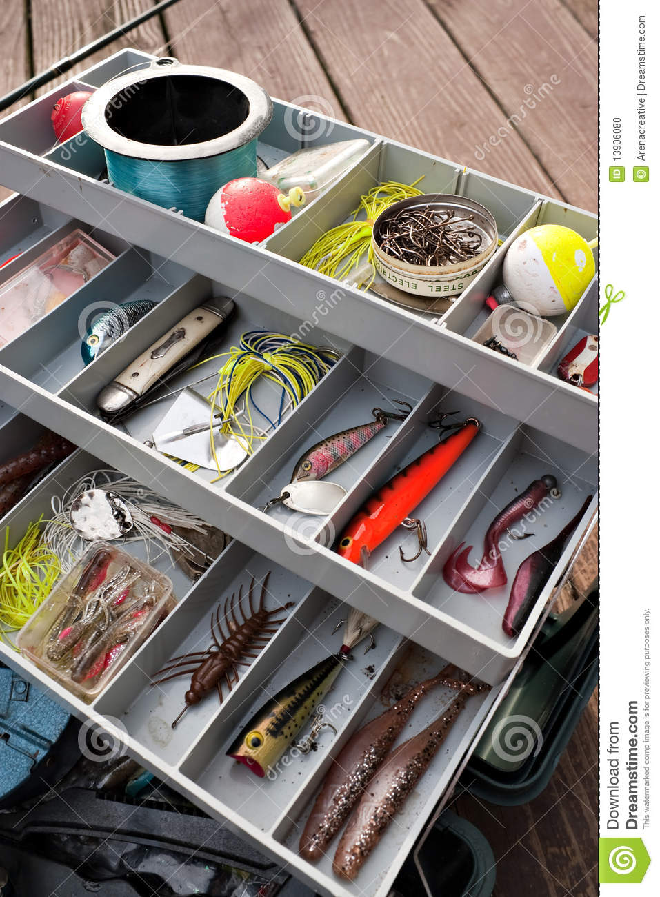 Fishing tackle box stock photo image of fisherman for Best fishing tackle box