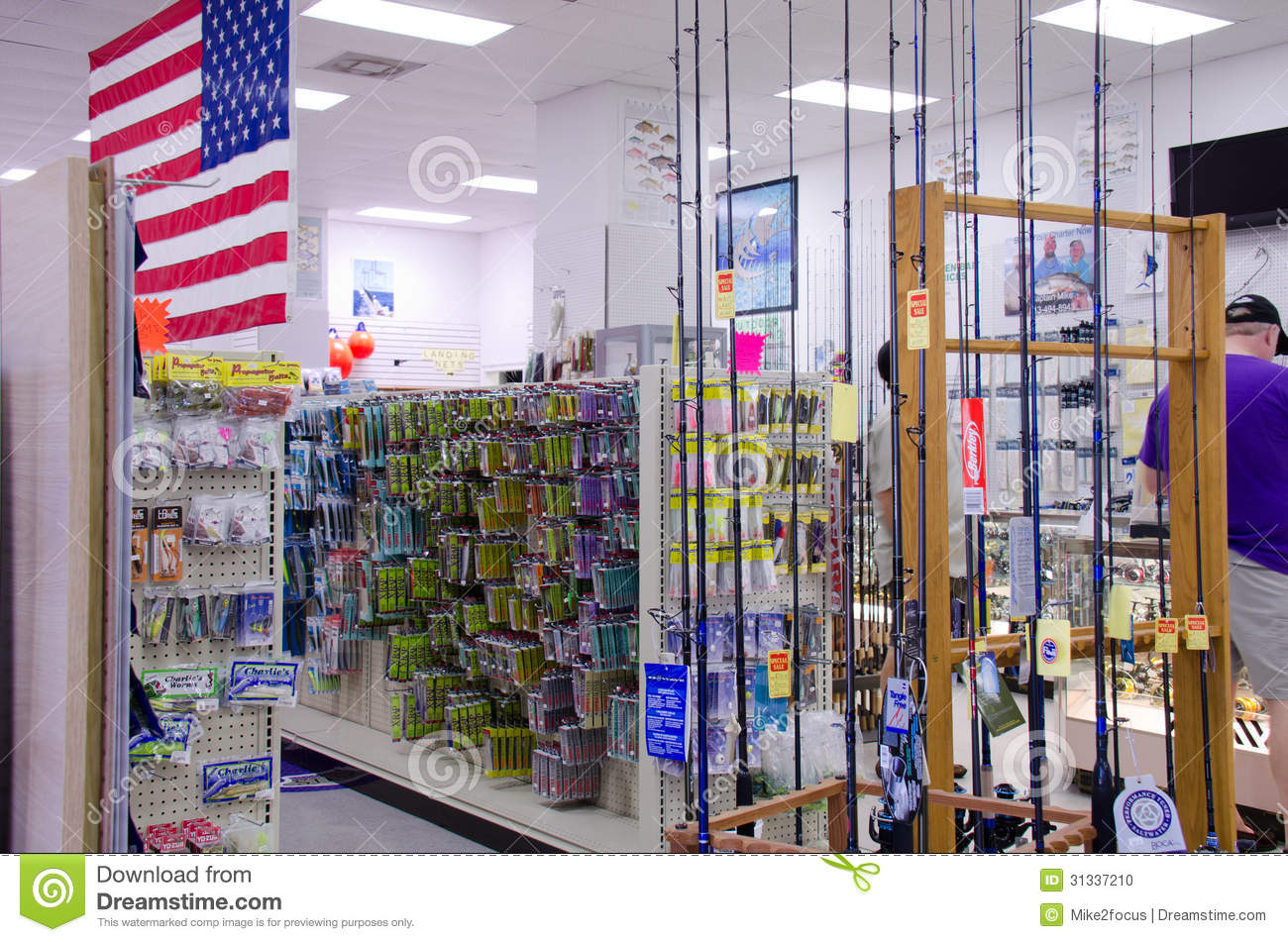 Fishing tackle supplies store shop editorial image image for Fishing equipment stores