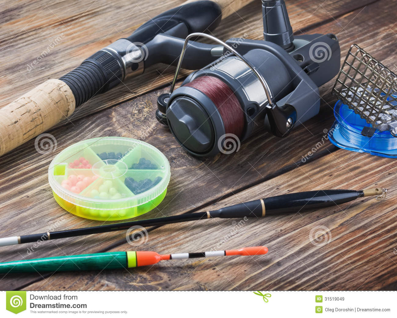 Fishing tackle stock image image of fully bait spinning for How to get free fishing gear