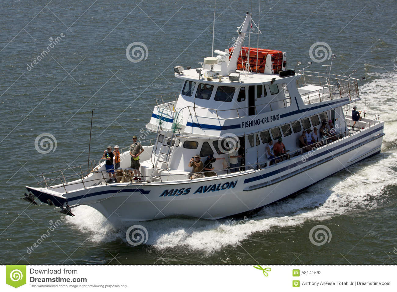 Fishing tour new jersey editorial photography image for Charter boat fishing nj