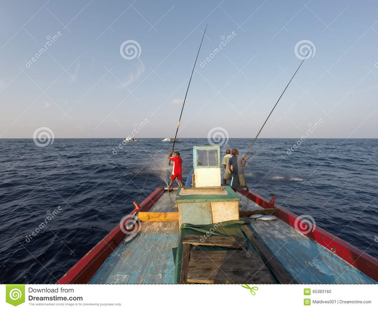 Fishing using pole and line editorial image image of for Most sustainable fish