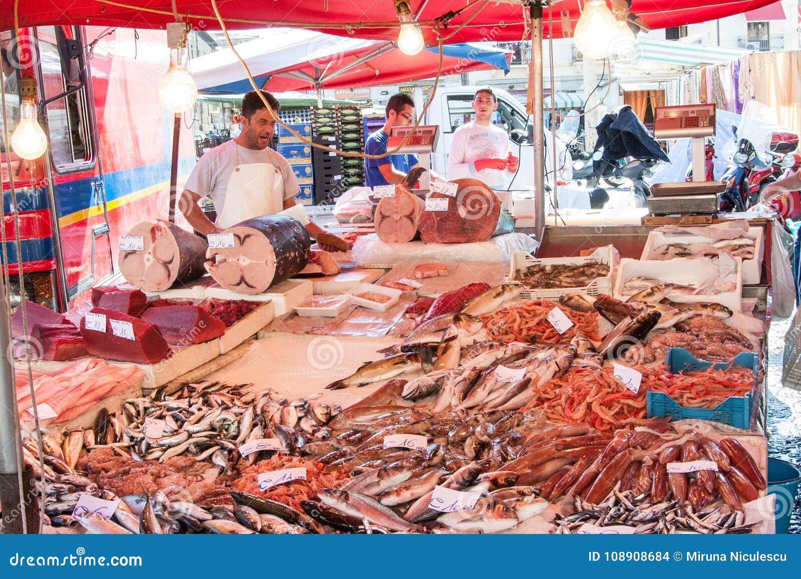 Fishmarket of Catania, Sicily, Italy