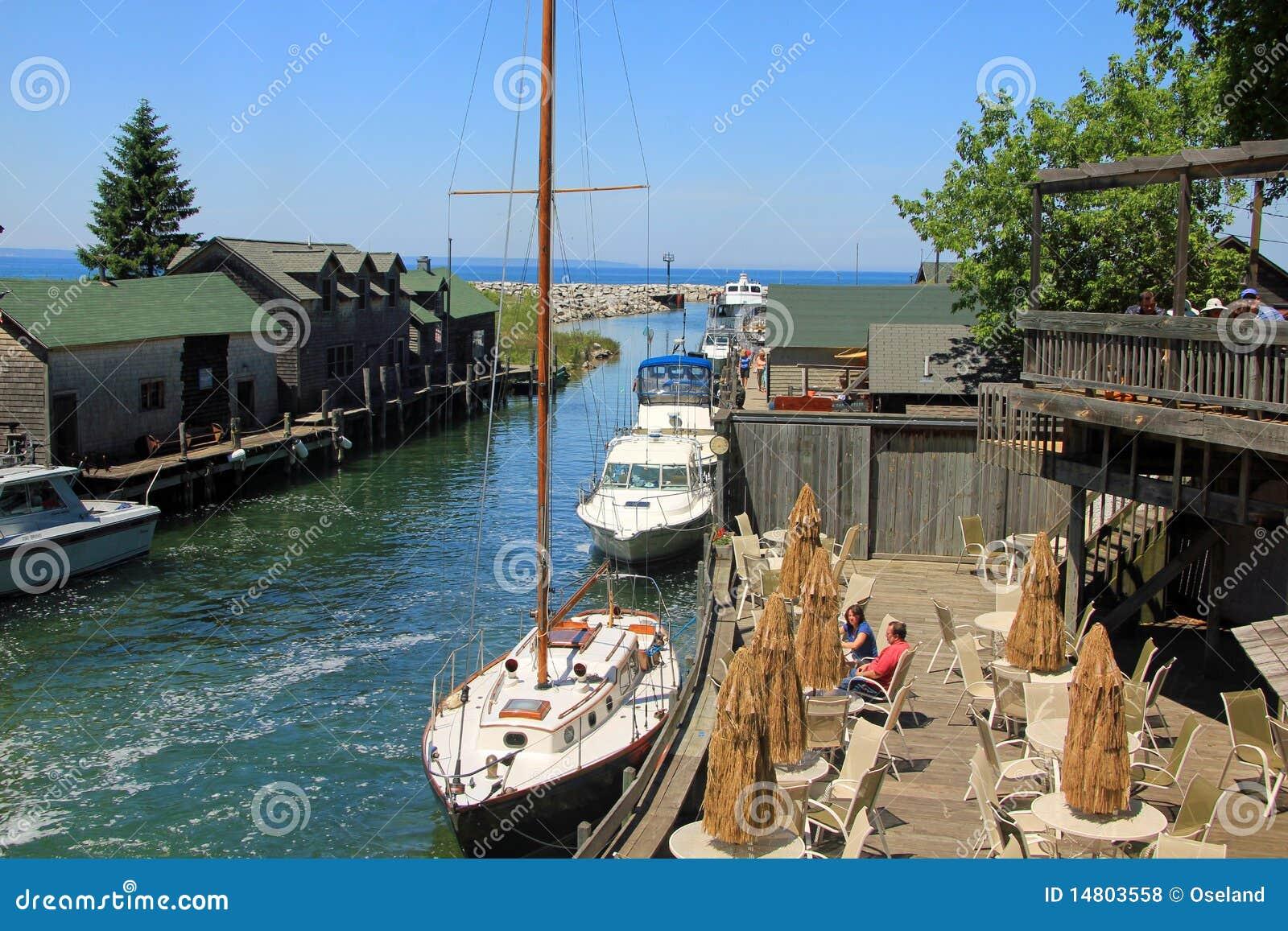 Fishtown in Leland, Michigan