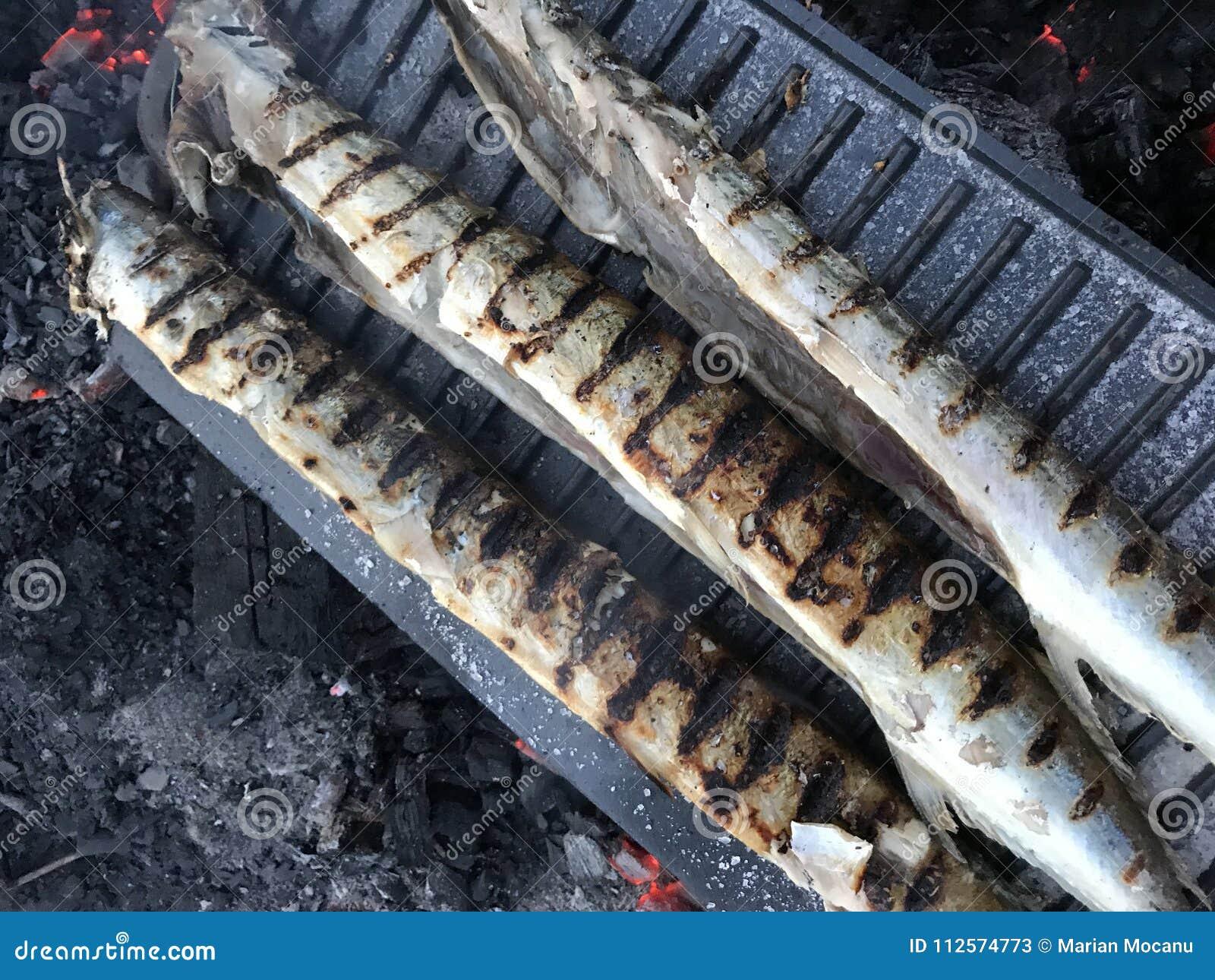 Fisk tre på gallret - utomhus- matlagning
