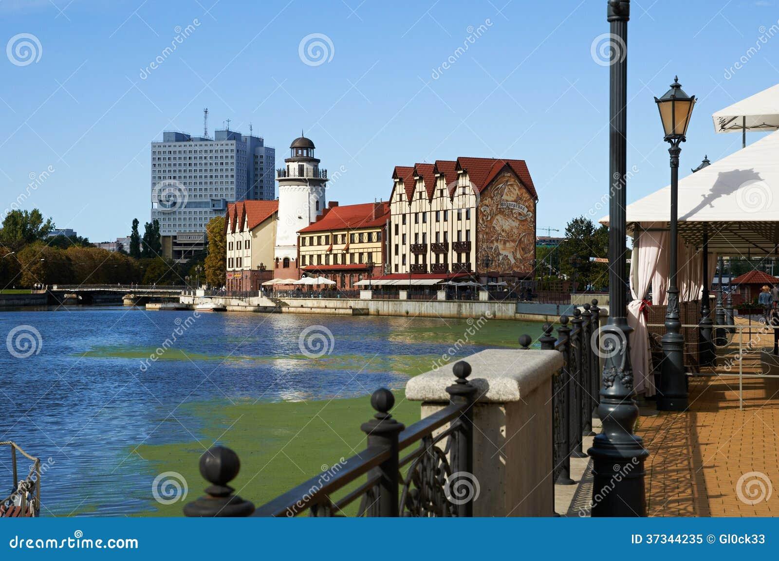 Fiskby. Kaliningrad. Ryssland