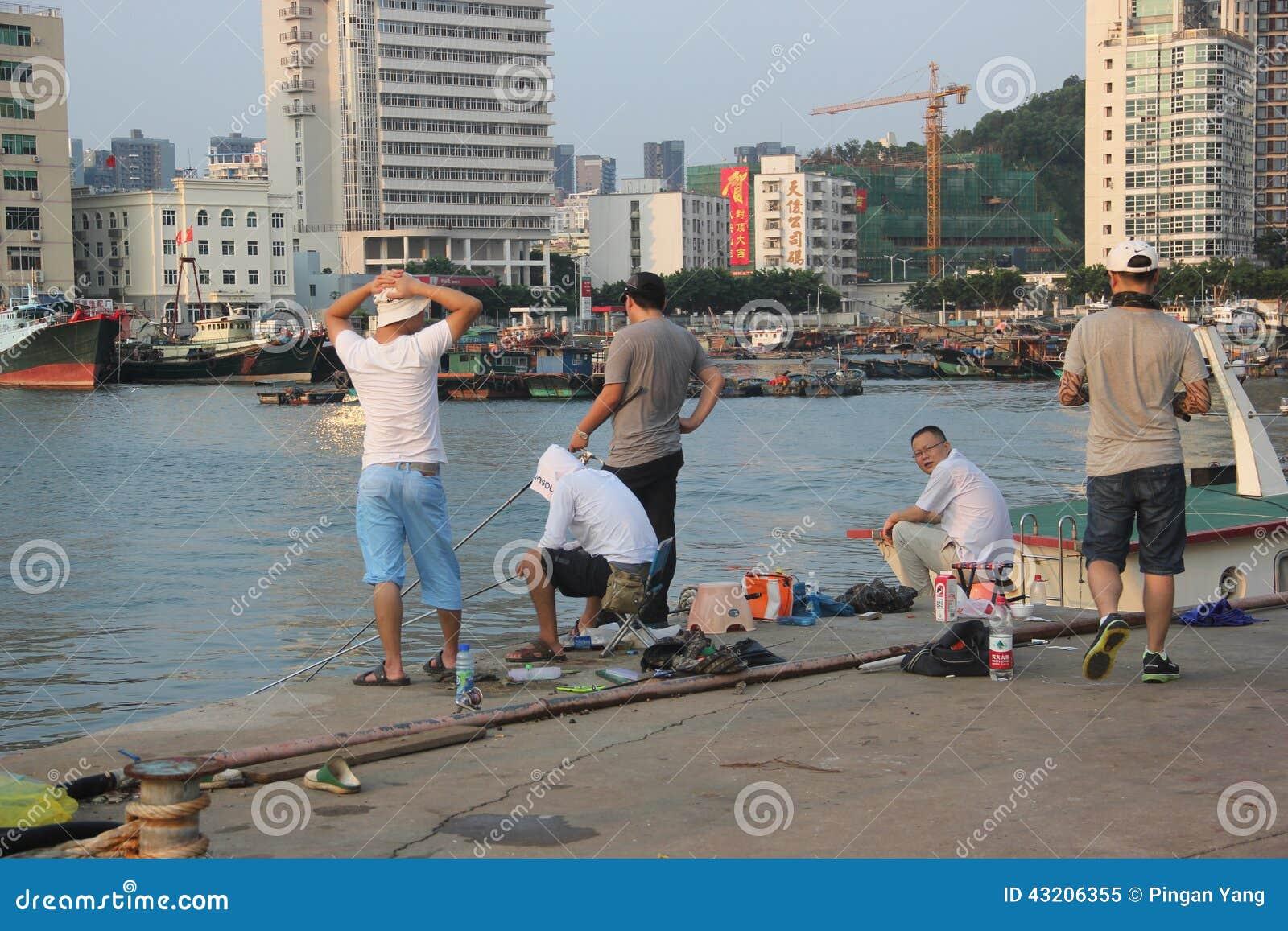 Download Fiskeentusiaster I Shekoufiskeport Redaktionell Foto - Bild av medel, vatten: 43206355