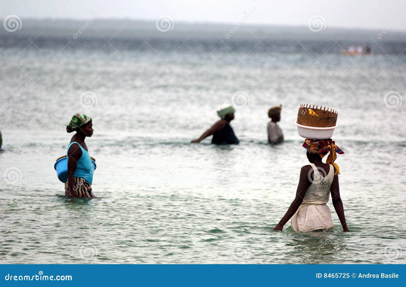 Fiskemozambique kvinnor