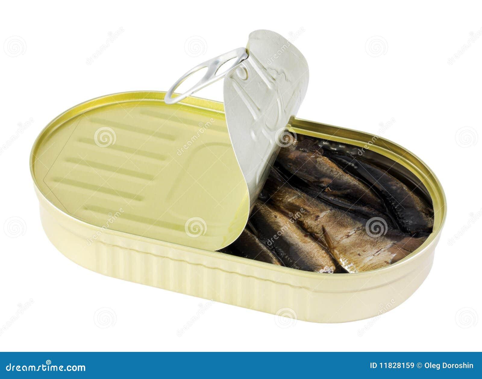 Fisken liten stackare på burk