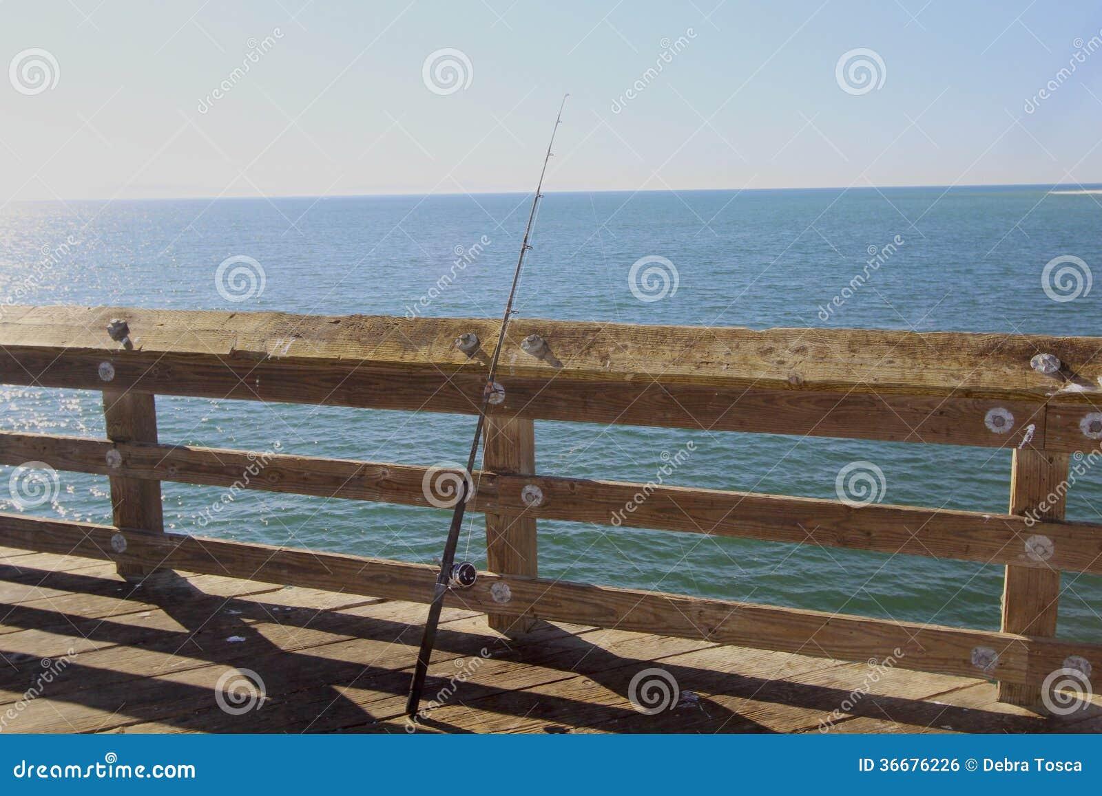 Fiskepol på pir