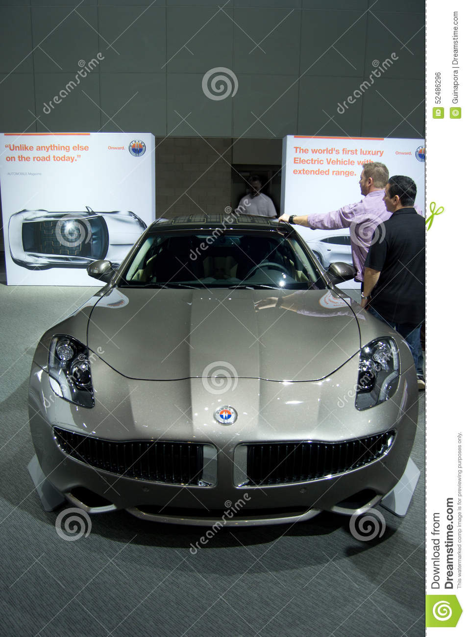 Fisker Karma coupe editorial photo. Image of automobile - 52486296