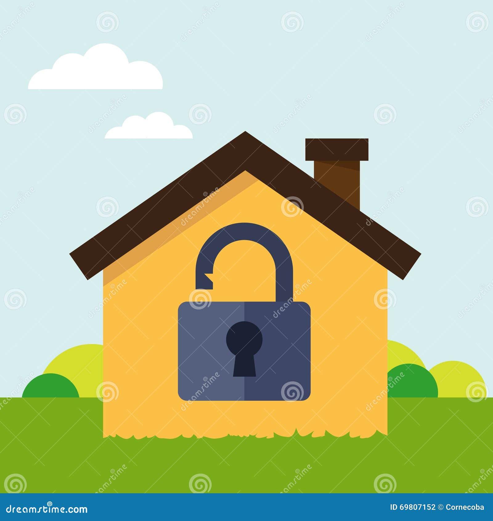 Fissi la casa illustrazione vettoriale immagine di for Concetto casa com