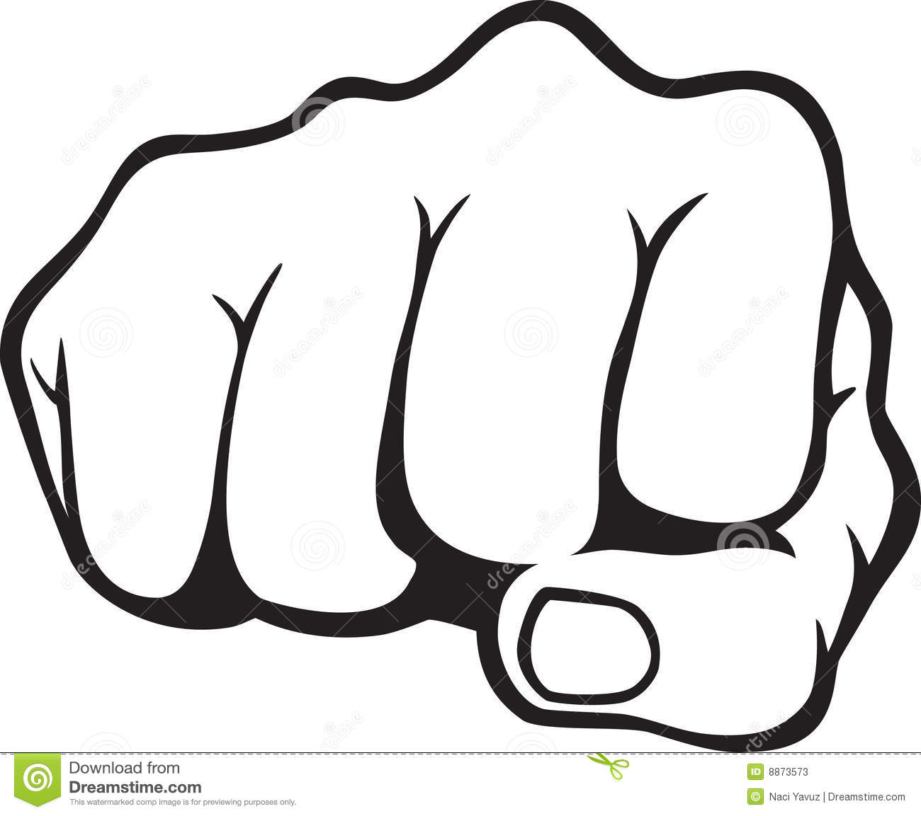 Fist stock vector. Illustration of fist, punch, aggressive - 8873573