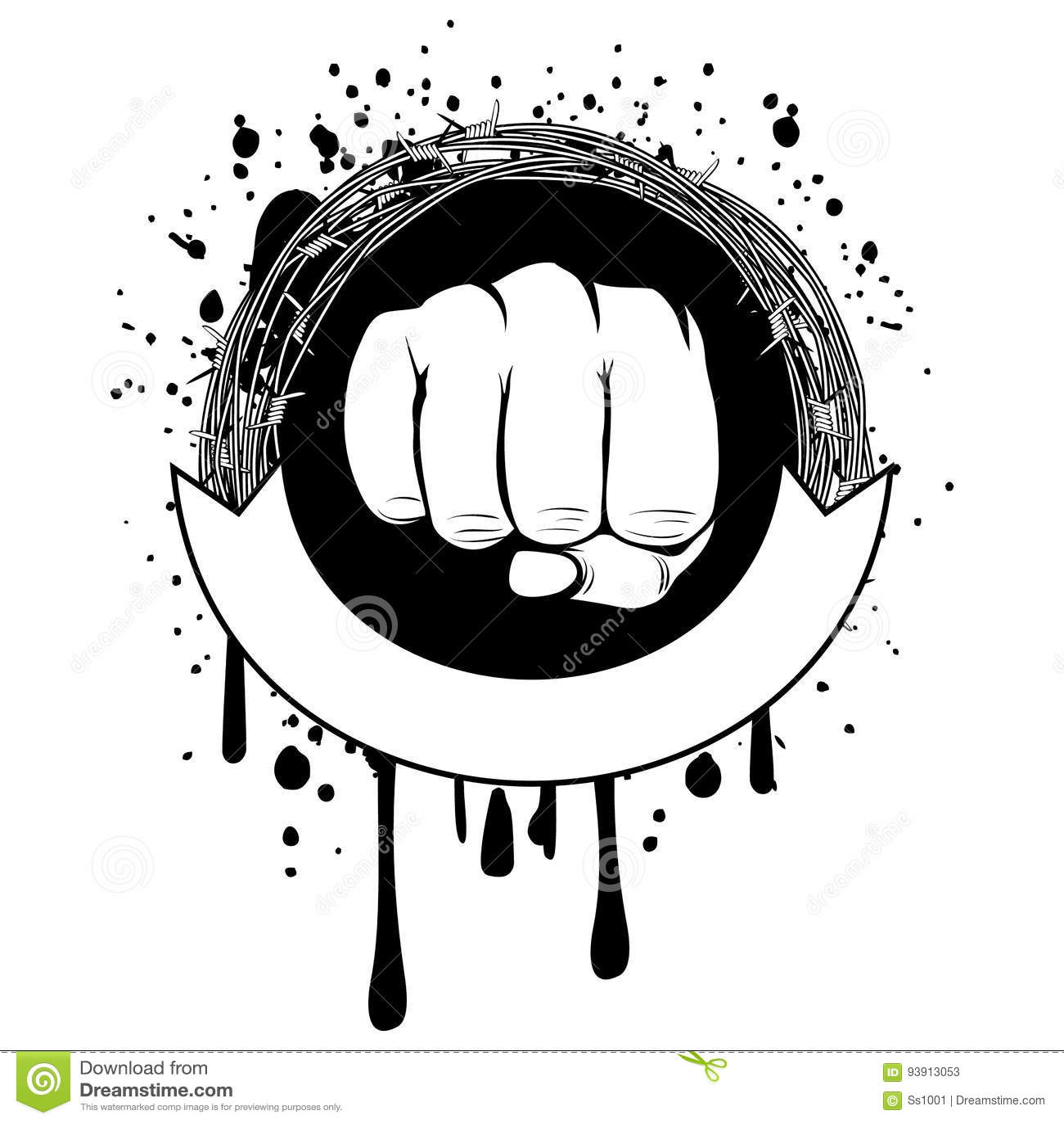 Fist stock vector. Illustration of brawler, military - 93913053