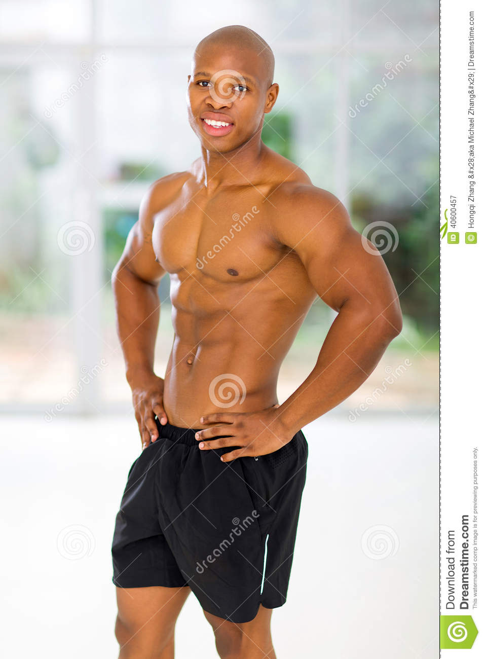 Fit african man
