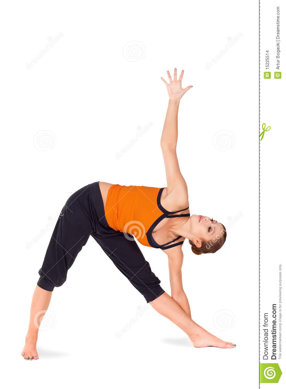 Fit Attractive Woman Practicing Yoga Pose