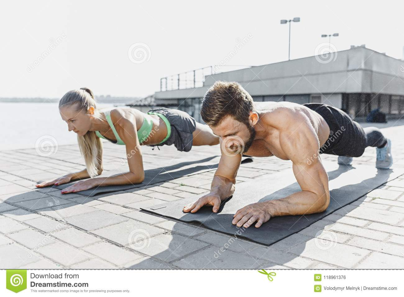 Exercises for the press: male and female