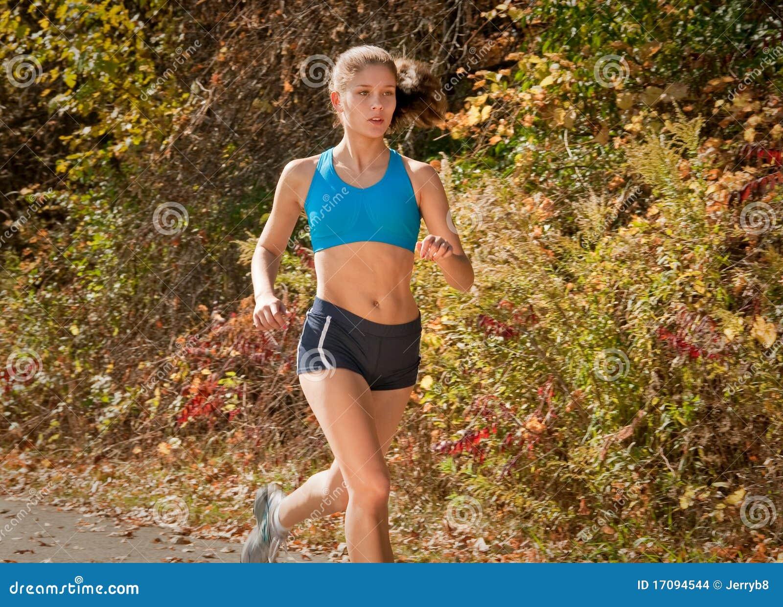 Fit löparekvinna