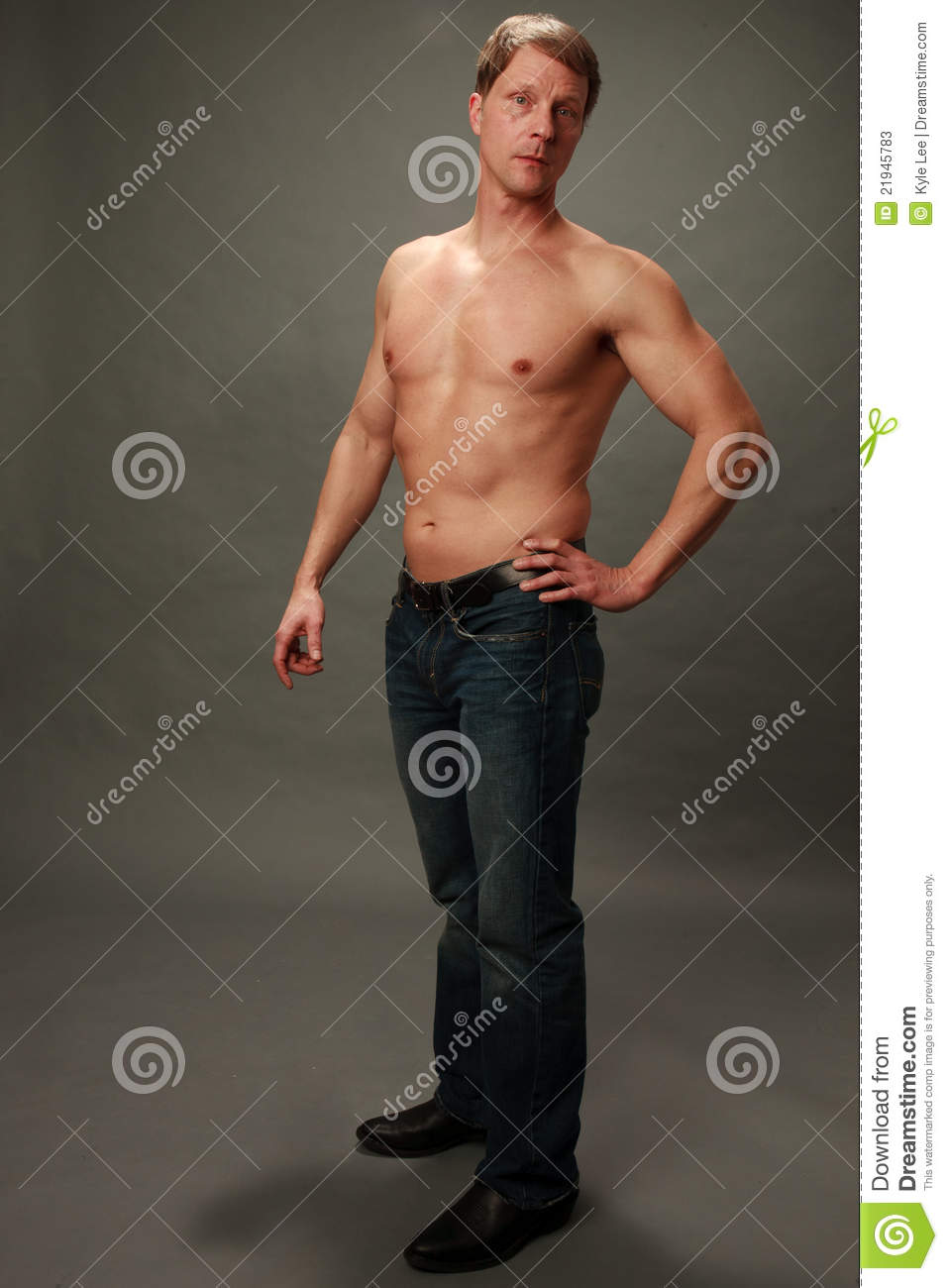 fit older male with no shirt stock photos   image 21945783