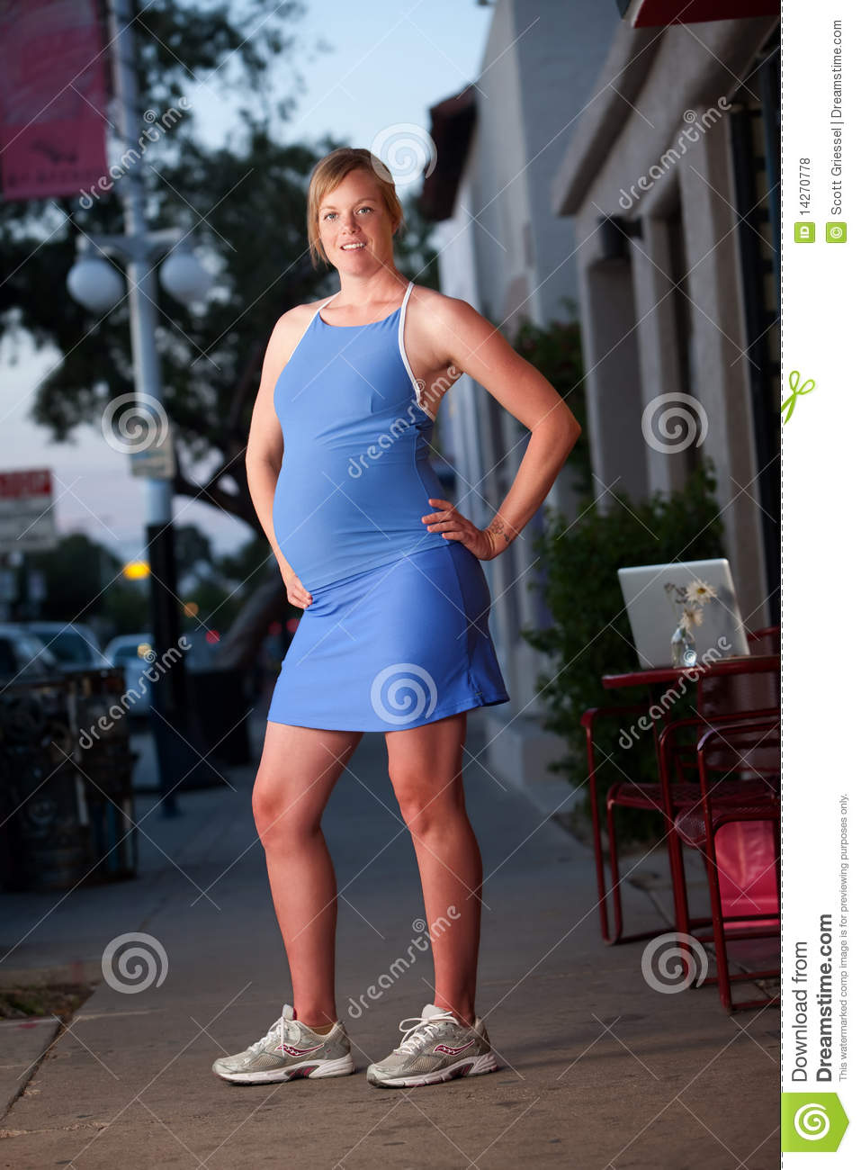 Fit Pregnant Woman Flexing Royalty Free Stock Photos ...